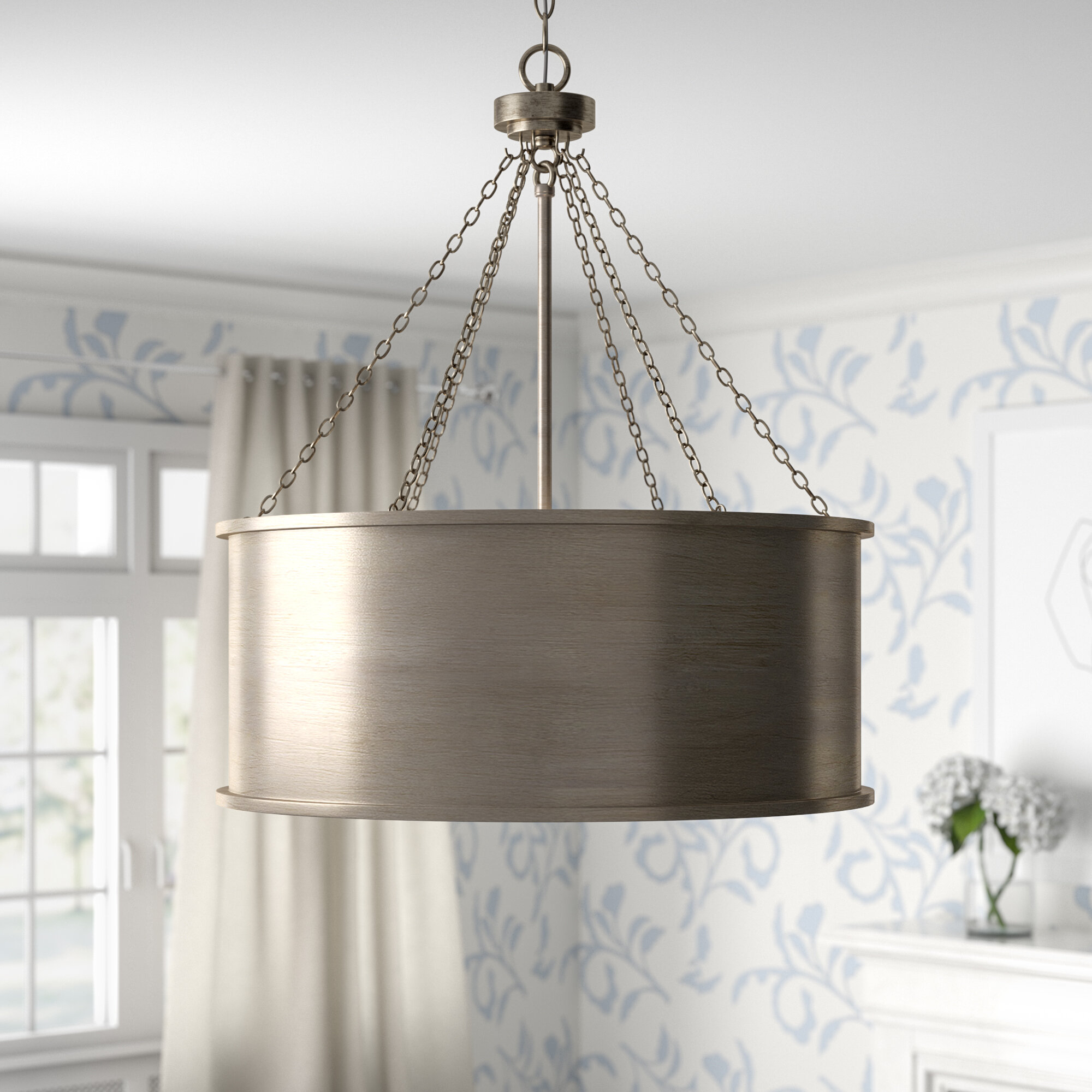 Bowe 6 Light Pendant Within Abel 5 Light Drum Chandeliers (Image 8 of 30)