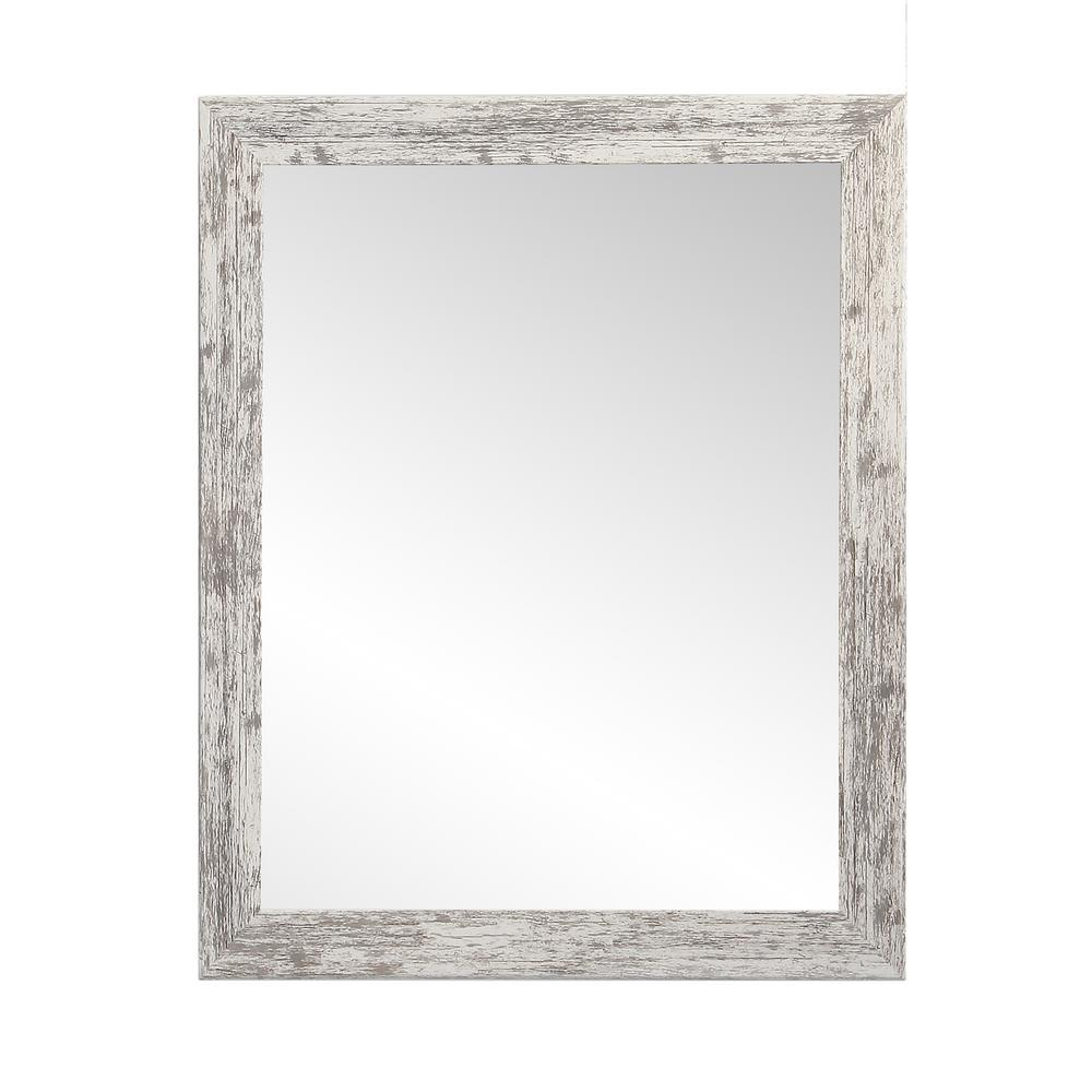 Brandtworks Distressed Decorative Rectangle White Wall For Landover Rustic Distressed Bathroom/vanity Mirrors (View 8 of 30)