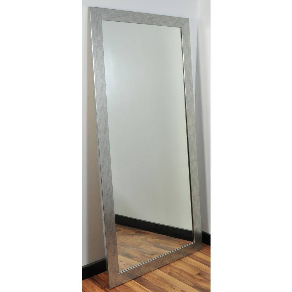 Brandtworks Modern Silver Grain Tall Framed Mirror | For The For Jameson Modern & Contemporary Full Length Mirrors (View 28 of 30)
