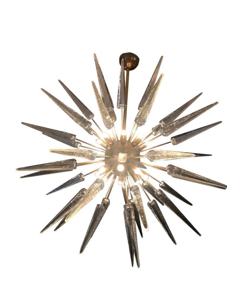 Brass And Cristal Sputnik for Corona 12-Light Sputnik Chandeliers (Image 7 of 30)