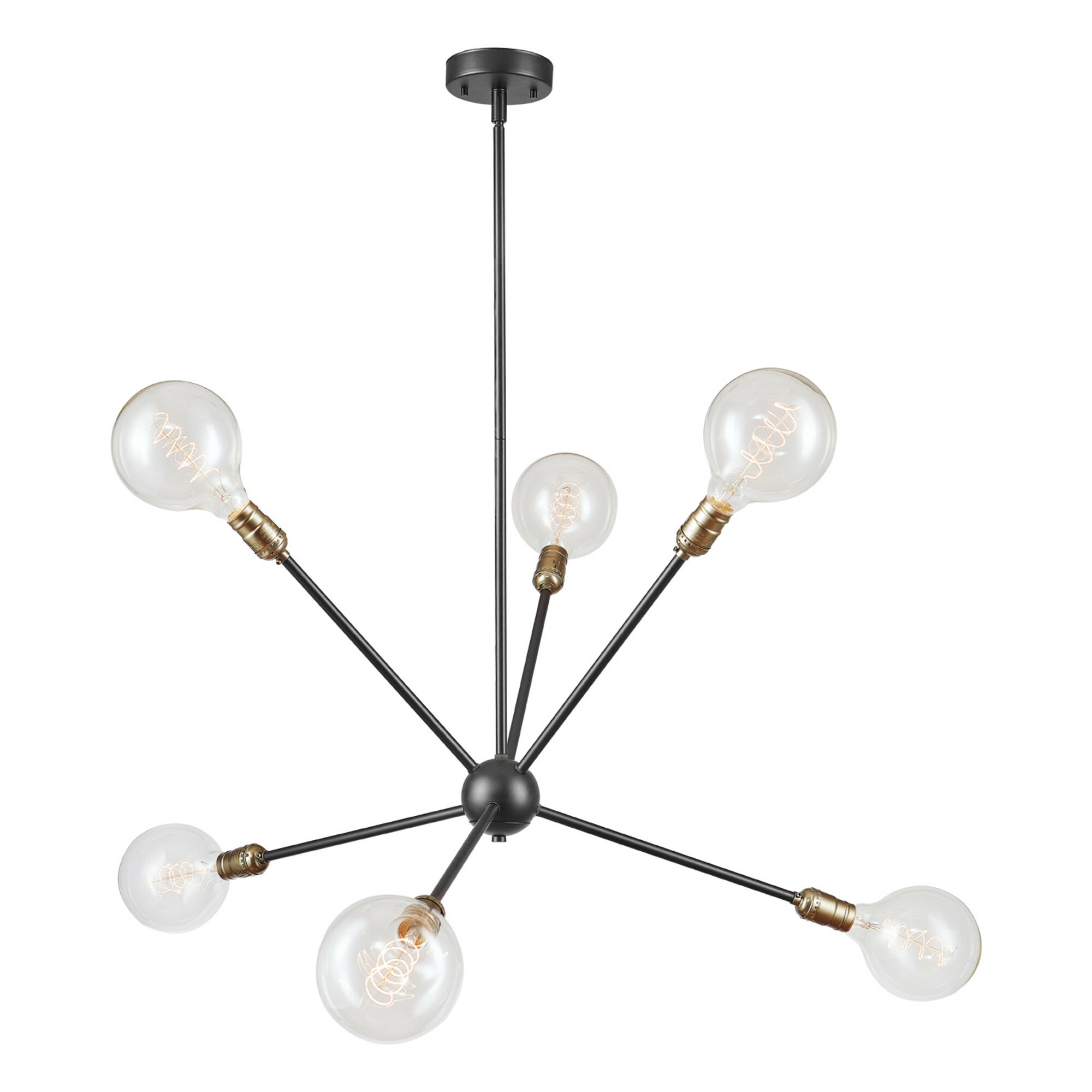 Brawner 6 Light Sputnik Chandelier Regarding Eladia 6 Light Sputnik Chandeliers (View 9 of 30)