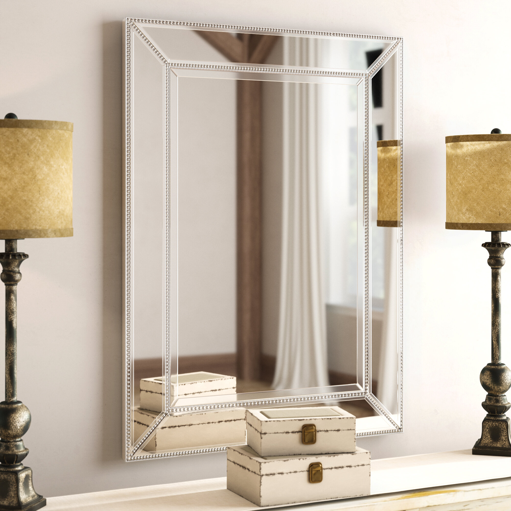 Brayden Beaded Accent Wall Mirror For Beaded Accent Wall Mirrors (View 7 of 30)