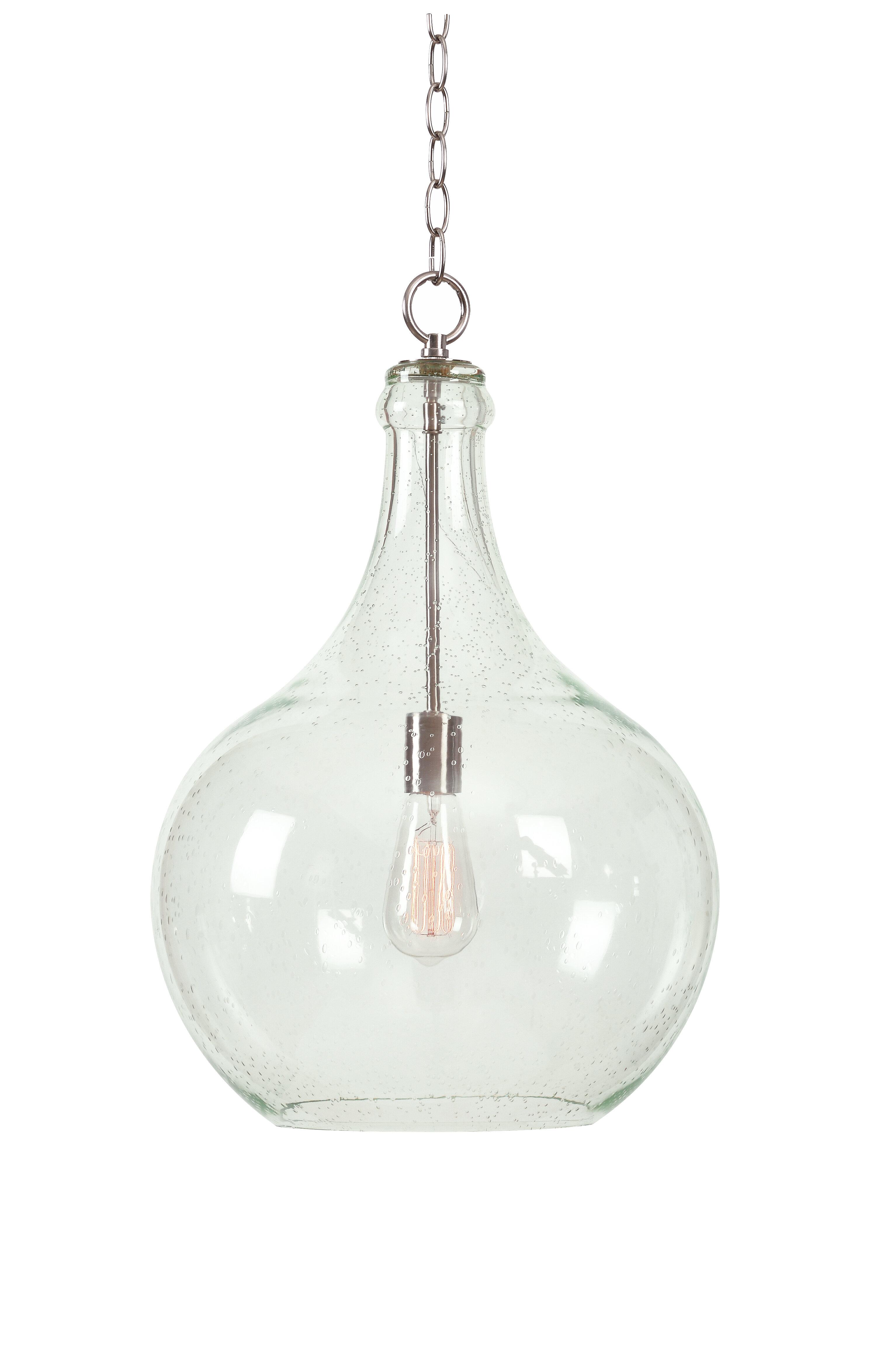 Brayden Studio Bustillos 1 Light Single Globe Pendant With Scruggs 1 Light Geometric Pendants (View 3 of 30)