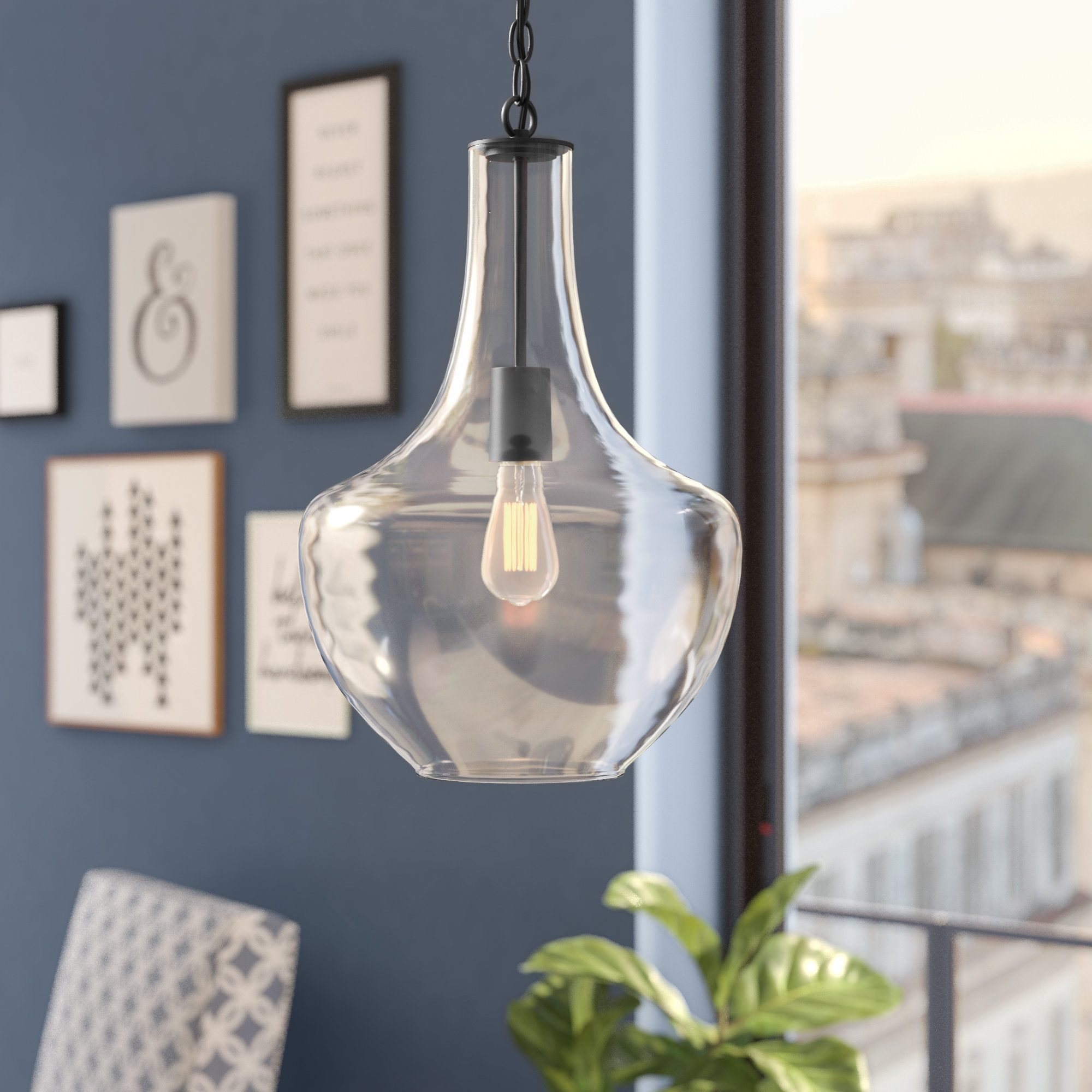 Brayden Studio Dunmore 1 Light Single Teardrop Pendant Throughout Neal 1 Light Single Teardrop Pendants (View 7 of 30)
