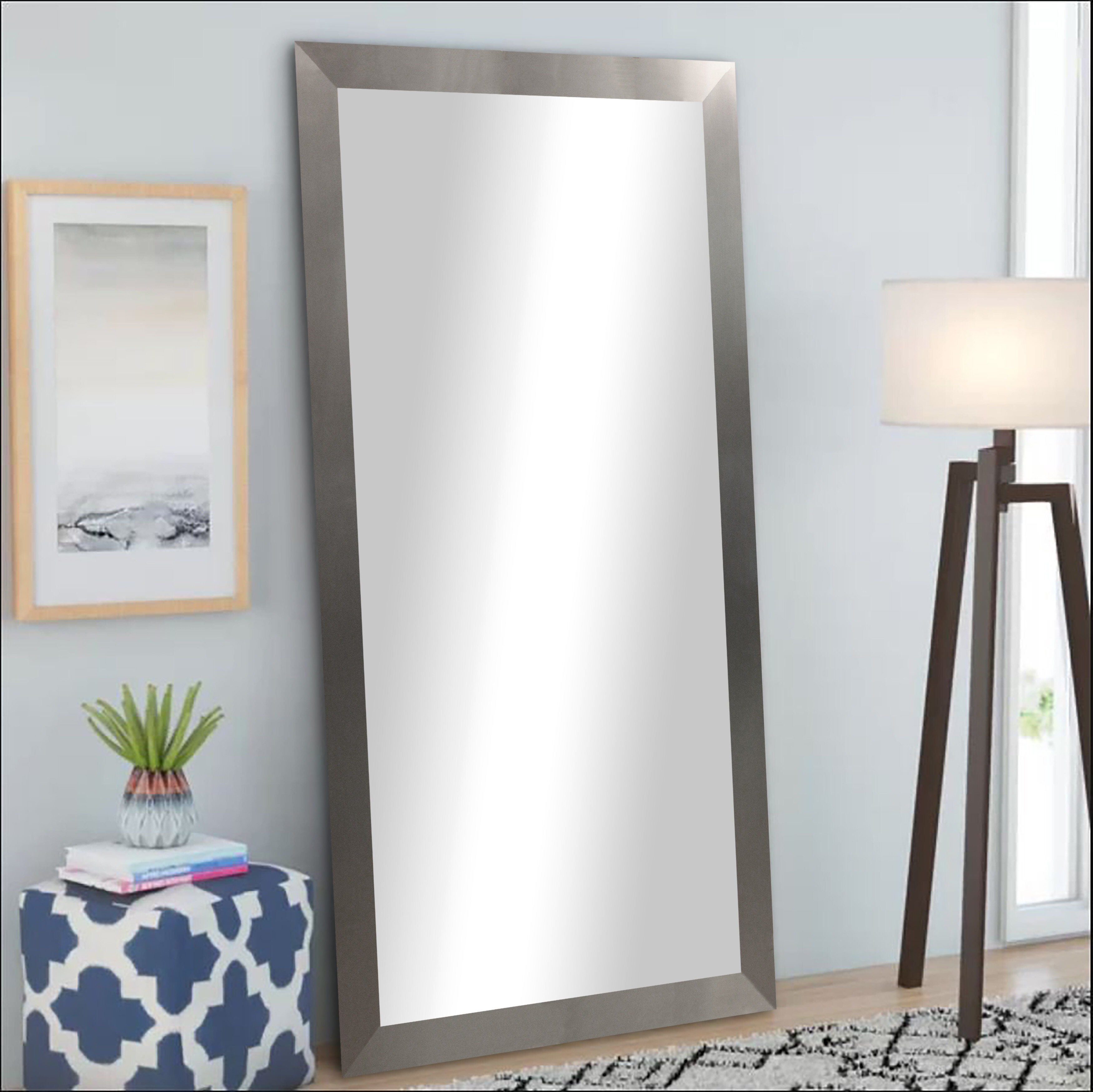 Brayden Studio Leaning Mirror & Reviews | Wayfair With Regard To Leaning Mirrors (View 11 of 30)