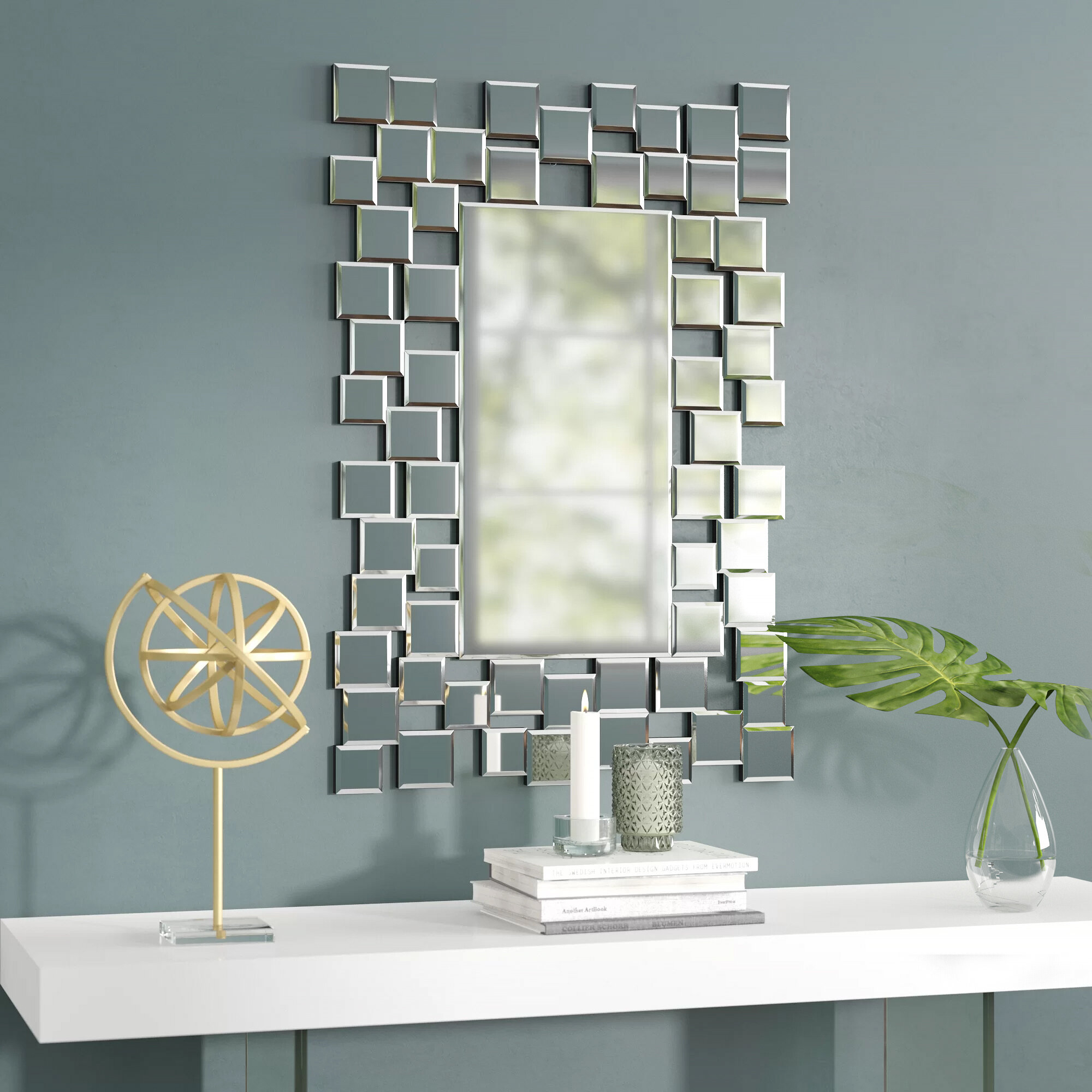 Brayden Studio Modern & Contemporary Accent Wall Mirror Intended For Pennsburg Rectangle Wall Mirror By Wade Logan (View 5 of 30)