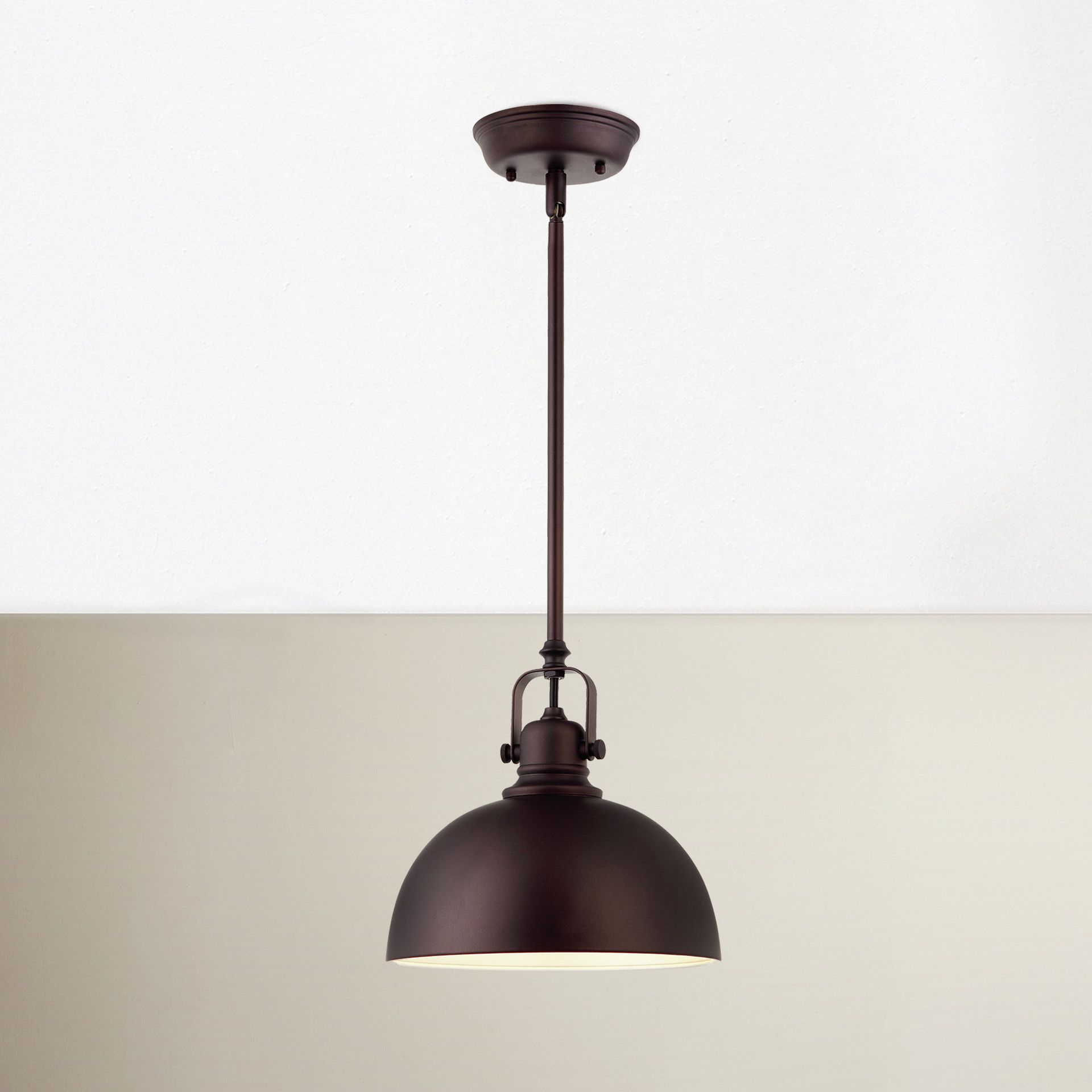 Breakwater Bay State Line 1 Light Bowl Pendant & Reviews with regard to Southlake 1-Light Single Dome Pendants (Image 9 of 30)