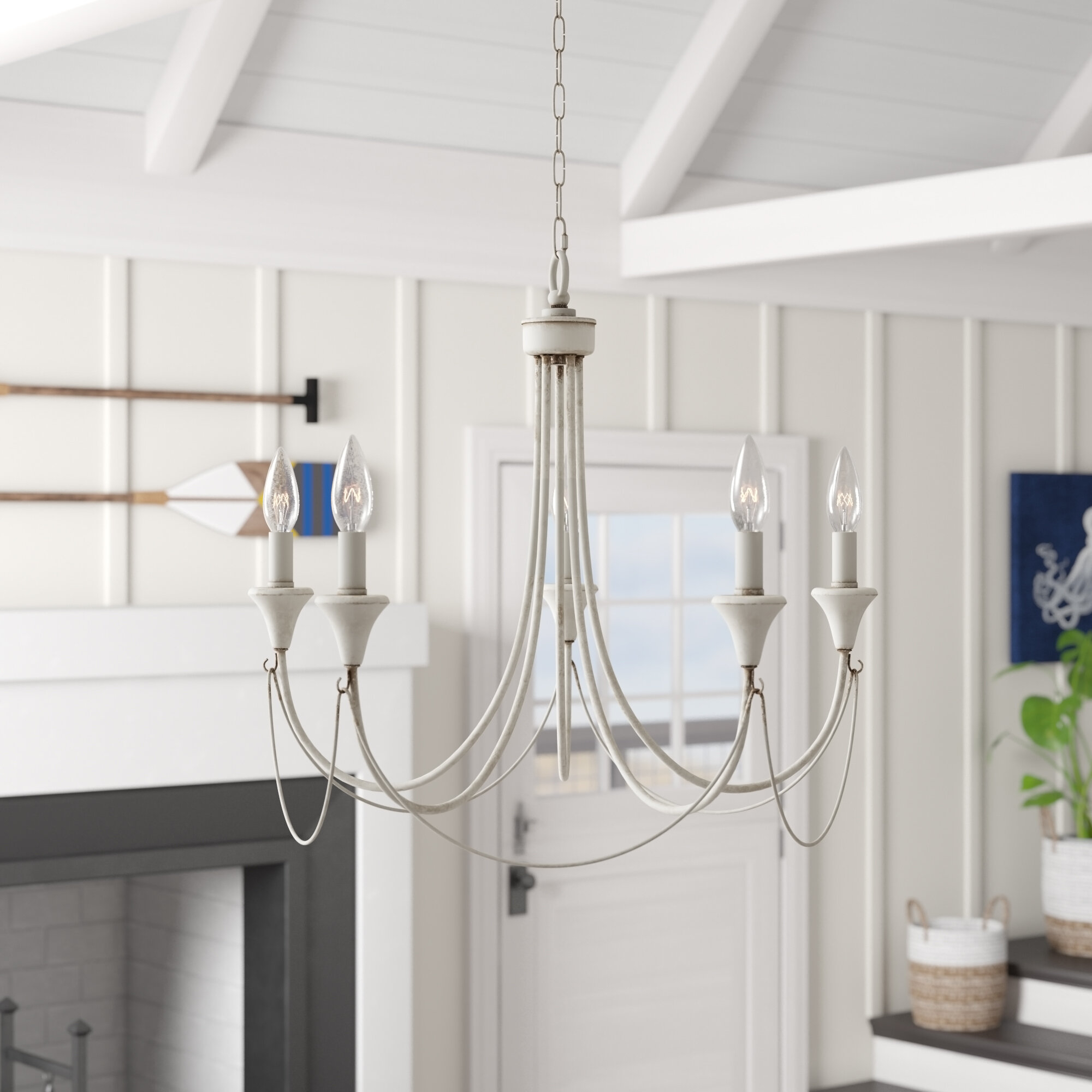 Breakwater Bay Walczak 5-Light Chandelier regarding Corneau 5-Light Chandeliers (Image 8 of 30)
