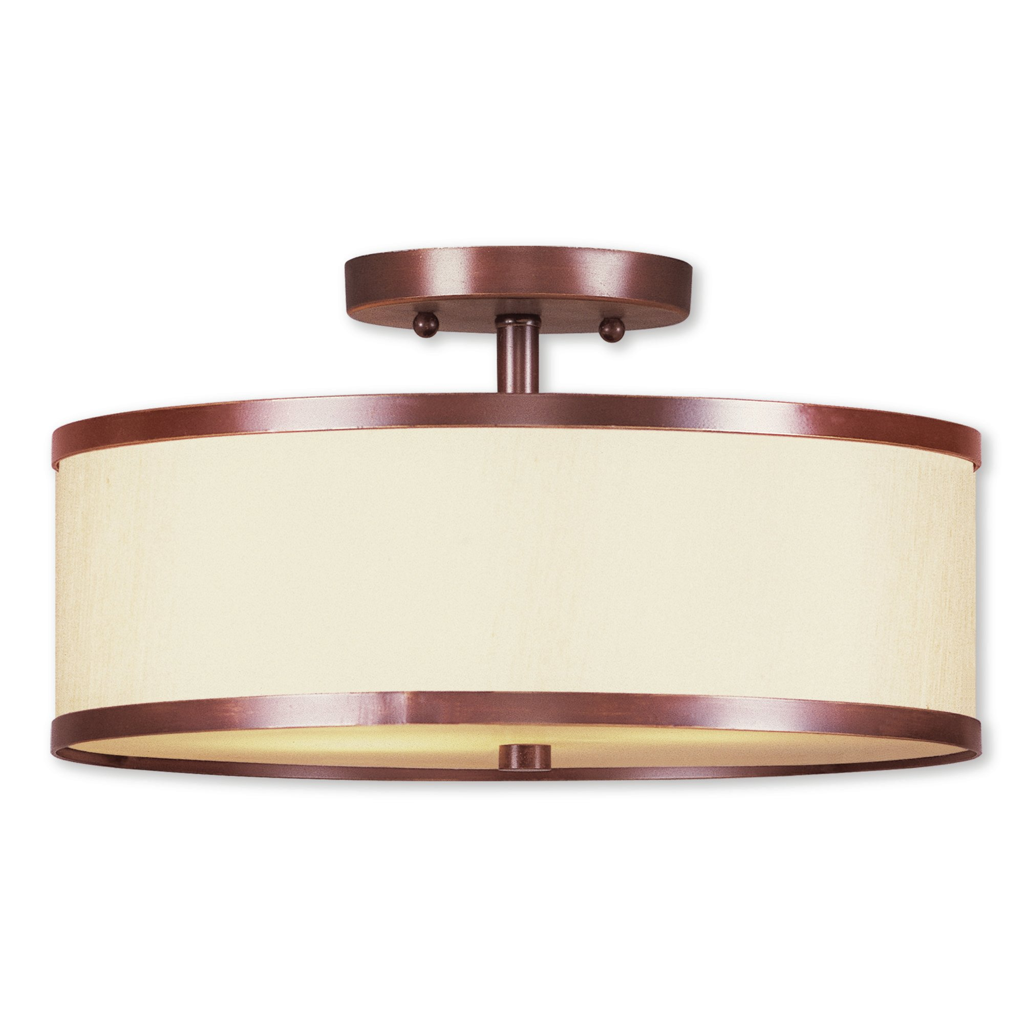 Breithaup 2 Light Semi Flush Mount Pertaining To Breithaup 4 Light Drum Chandeliers (View 22 of 30)