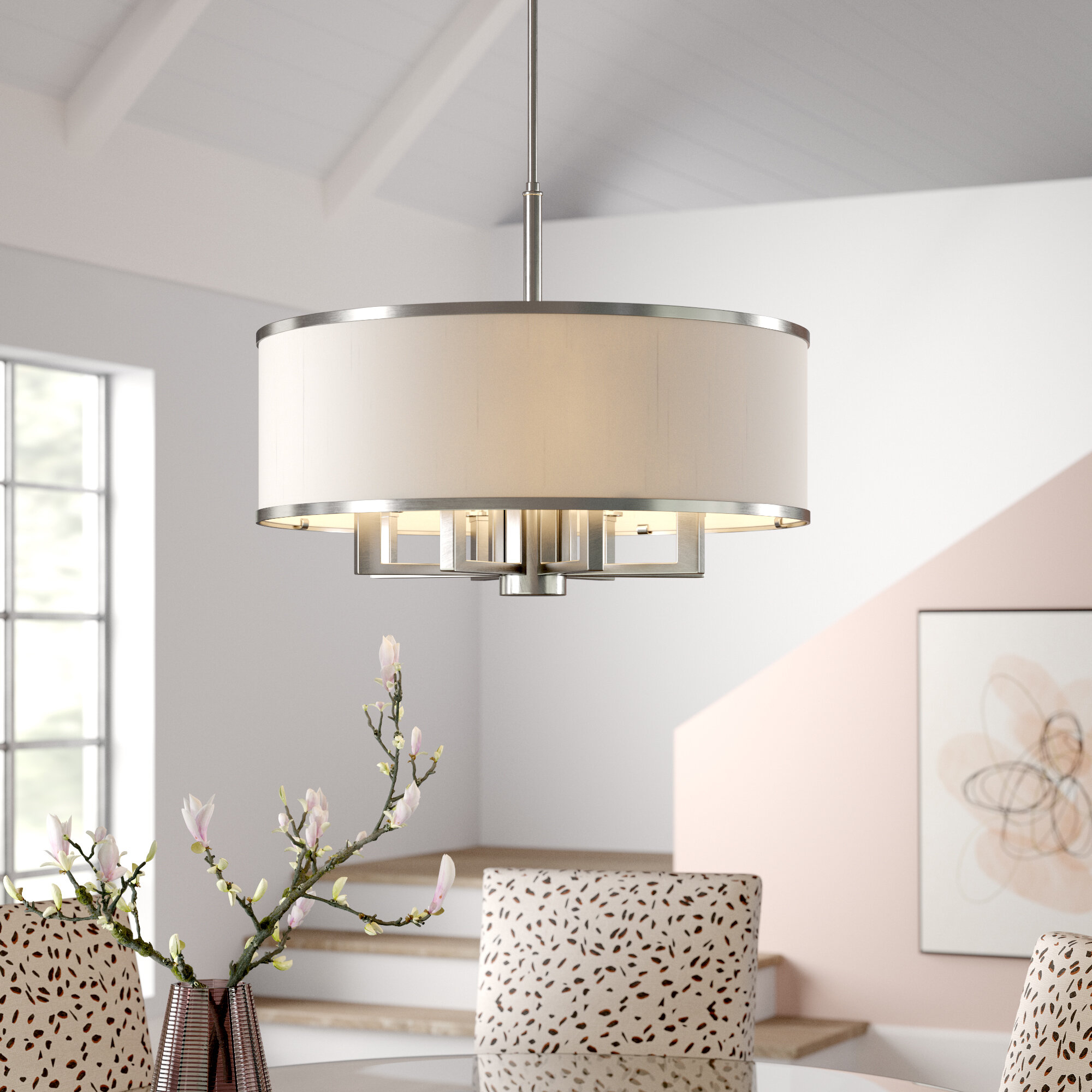 Breithaup 7 Light Drum Chandelier & Reviews | Joss & Main Pertaining To Alina 5 Light Drum Chandeliers (View 20 of 30)