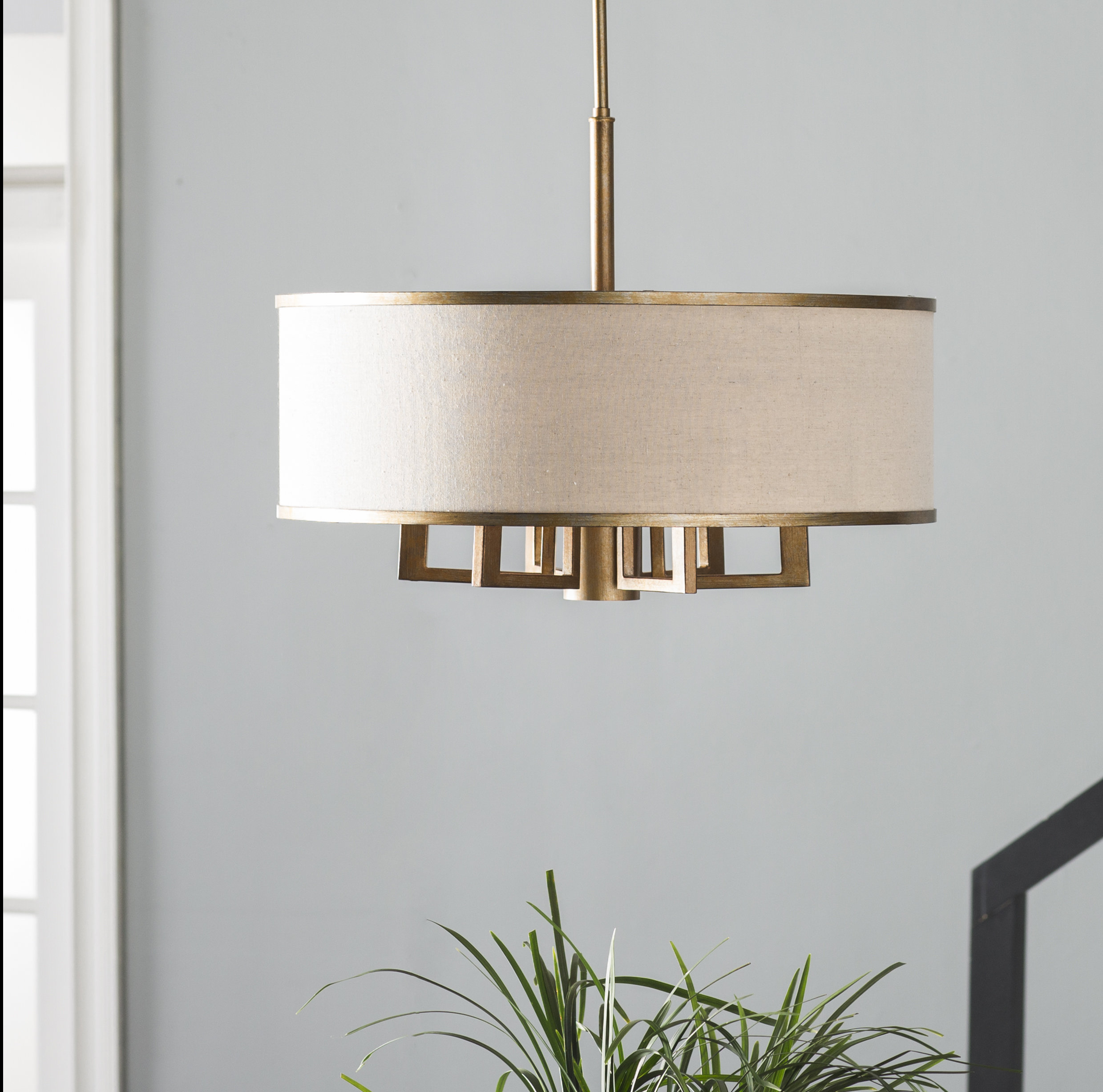 Breithaup 7 Light Drum Chandelier With Regard To Friedland 3 Light Drum Tiered Pendants (View 12 of 30)