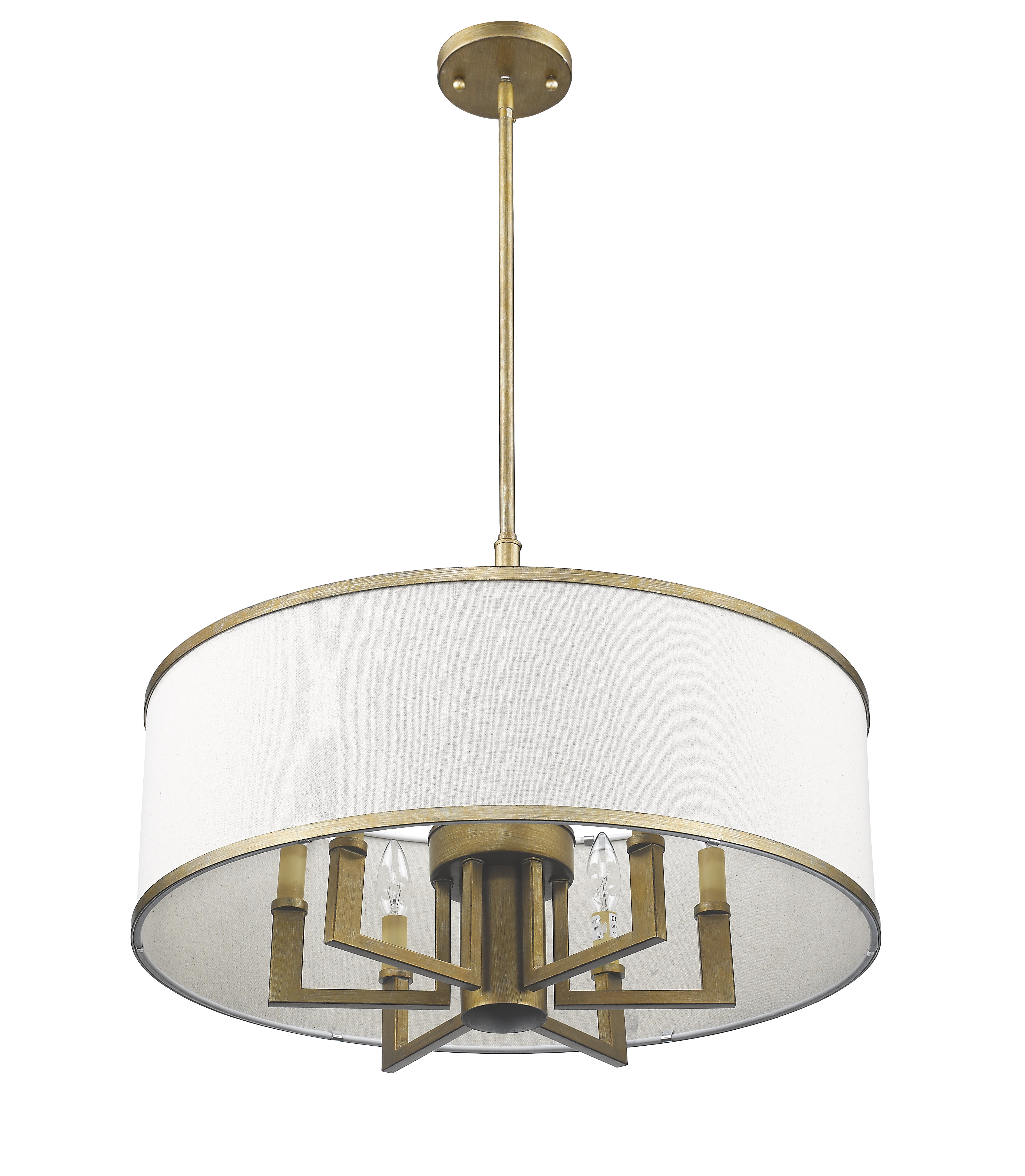 Breithaup 7-Light Drum Chandelier with regard to Wightman Drum Chandeliers (Image 6 of 30)