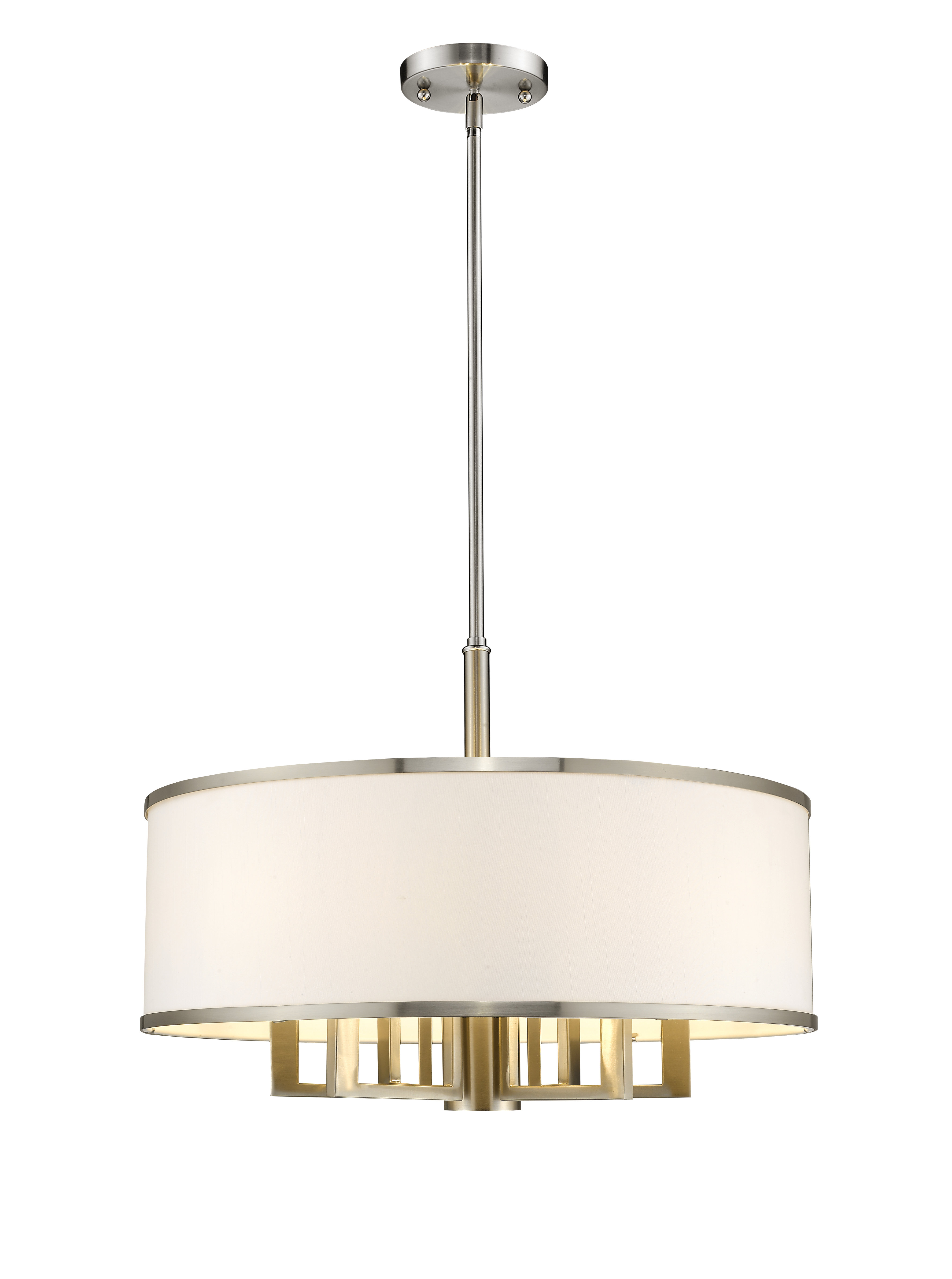 Breithaup 7 Light Drum Chandelier Within Friedland 3 Light Drum Tiered Pendants (View 13 of 30)