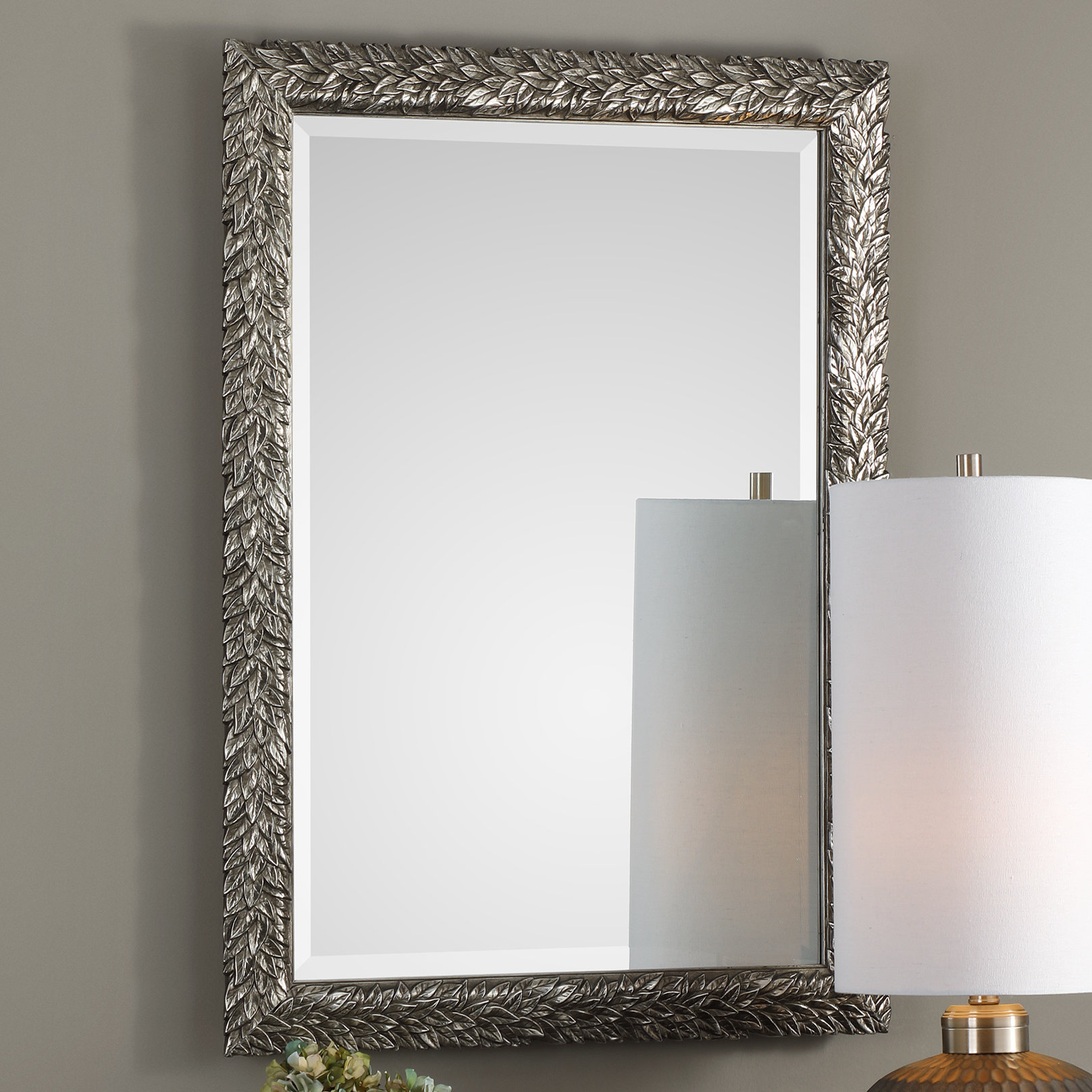 Brennen Leaf Accent Mirror for Longwood Rustic Beveled Accent Mirrors (Image 6 of 30)
