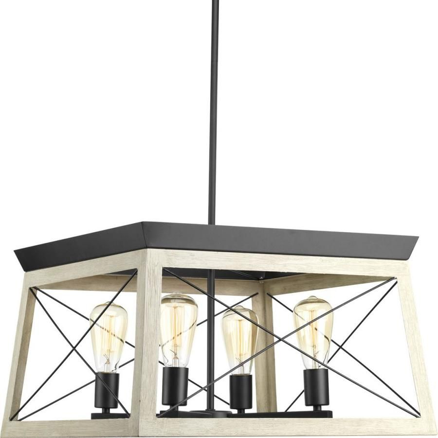 Briarwood 4-Light Graphite Farmhouse Cage Chandelier in Delon 4-Light Square Chandeliers (Image 2 of 30)