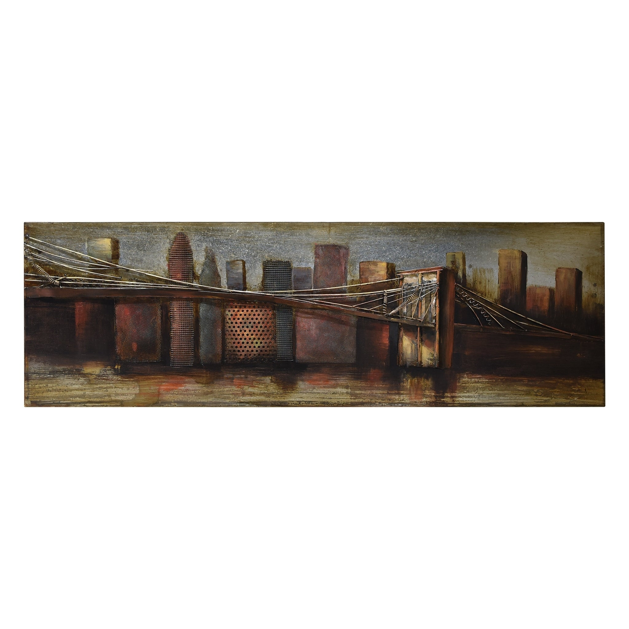 """bridge To The City 1"" Mixed Media Iron Hand Painted Dimensional Wall Décor Pertaining To ""bridge To The City"" Mixed Media Iron Hand Painted Dimensional Wall Decor (View 2 of 30)"
