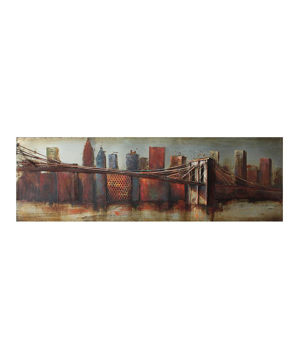 "Bridge To The City Iron Wall Art Sculpture | Products | Iron Intended For ""bridge To The City"" Mixed Media Iron Hand Painted Dimensional Wall Decor (View 8 of 30)"