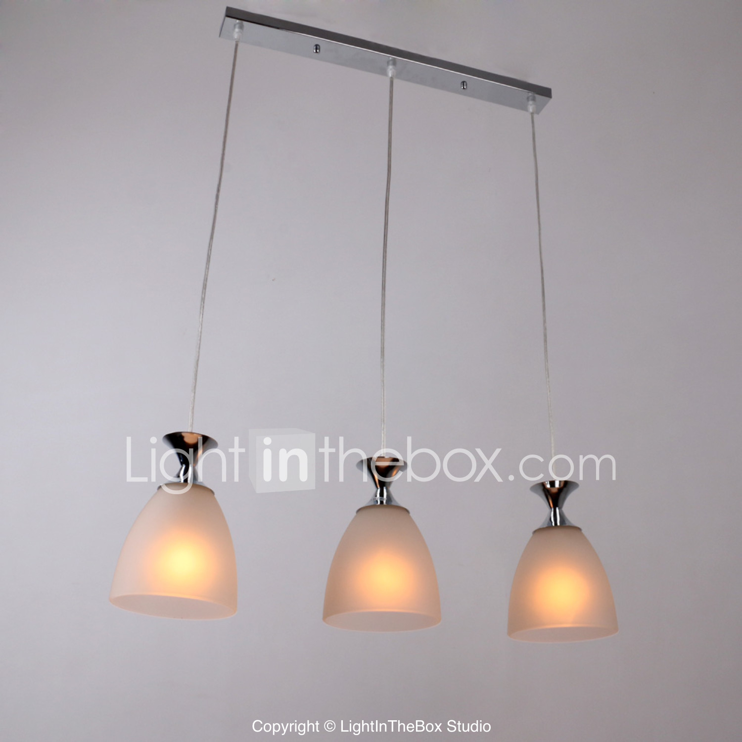Brilight Cluster Pendant Light Ambient Light Chrome Glass Pertaining To Bryker 1 Light Single Bulb Pendants (View 15 of 30)