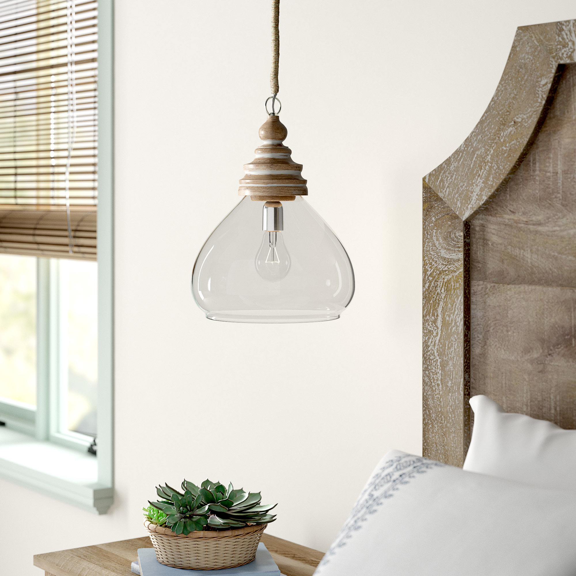 Brisa 1-Light Single Dome Pendant regarding 1-Light Single Dome Pendants (Image 6 of 30)