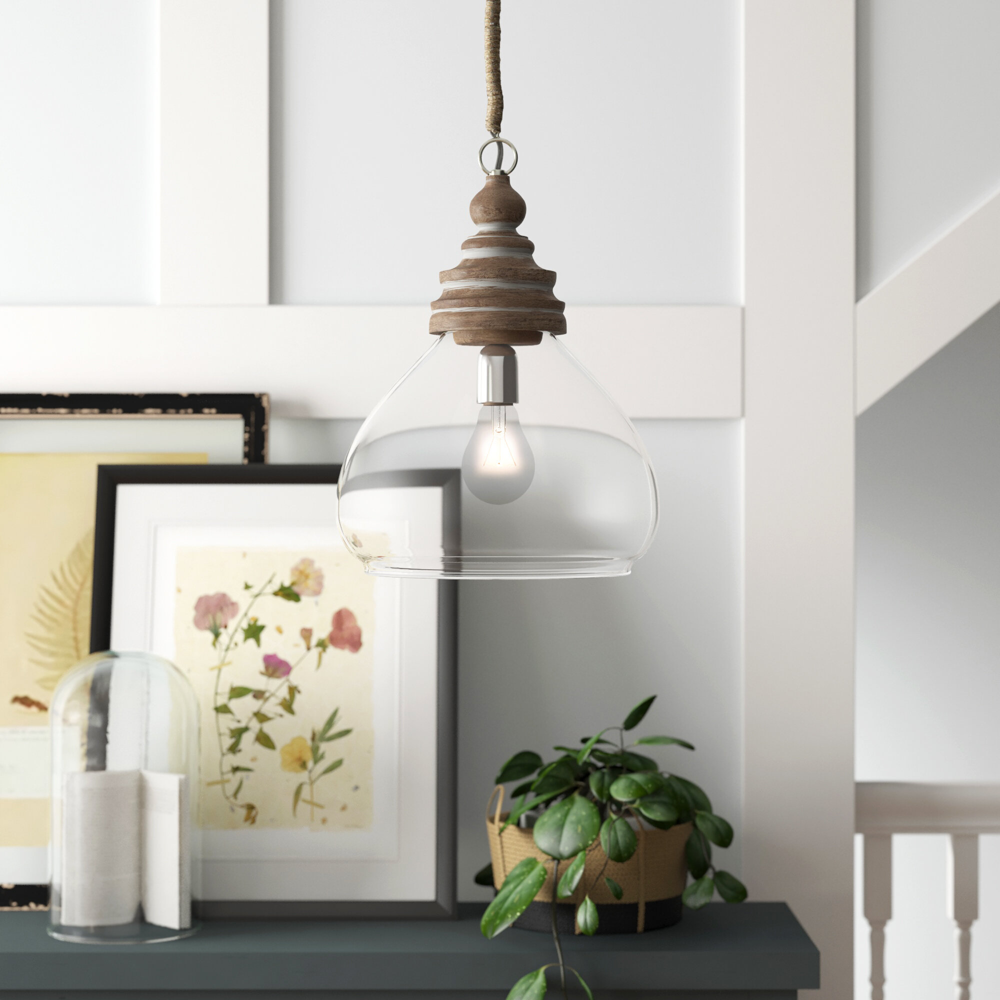 Brisa 1-Light Single Dome Pendant with Conover 1-Light Dome Pendants (Image 4 of 30)