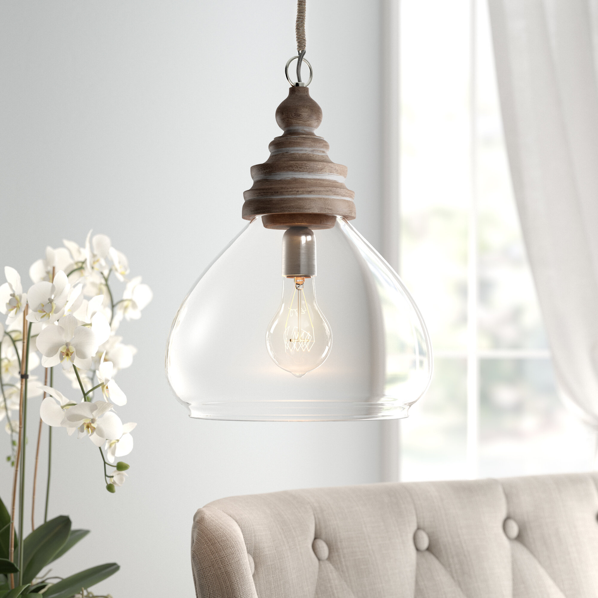 Brisa 1 Light Single Dome Pendant With Regard To Moyer 1 Light Single Cylinder Pendants (View 10 of 30)