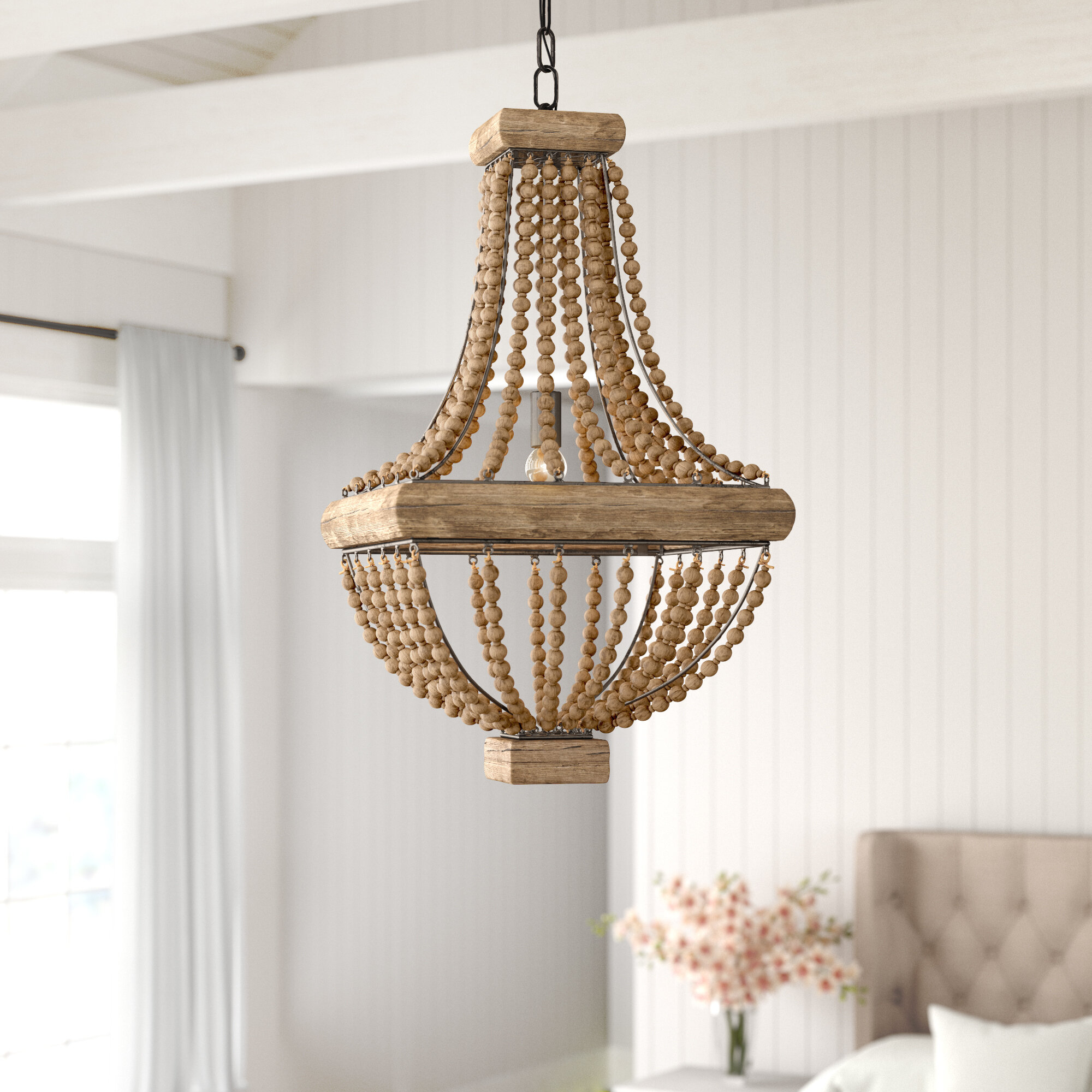 Brisa 1-Light Single Geometric Pendant in Spokane 1-Light Single Urn Pendants (Image 10 of 30)