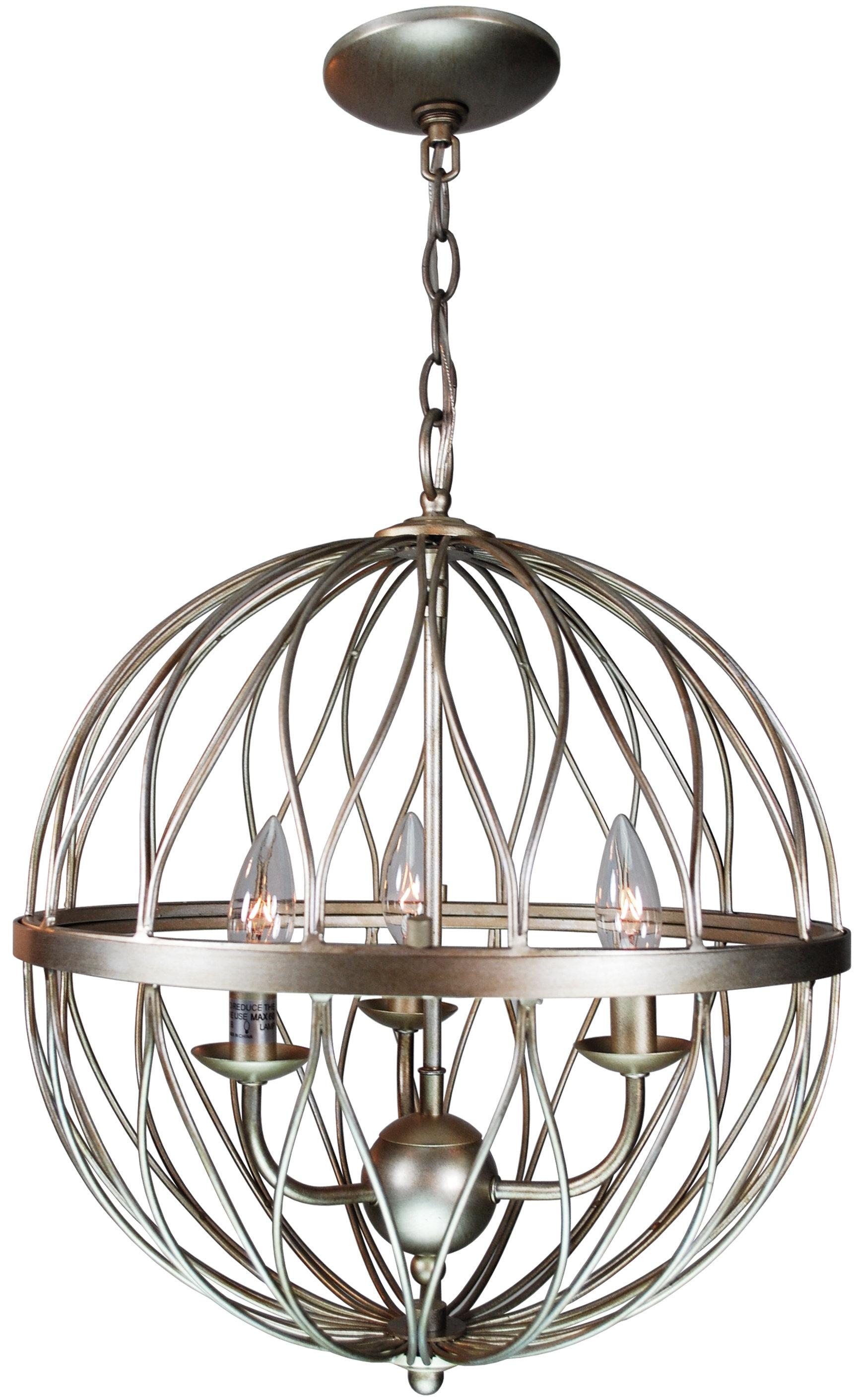 Brittain 3-Light Globe Chandelier for Shipststour 3-Light Globe Chandeliers (Image 5 of 30)