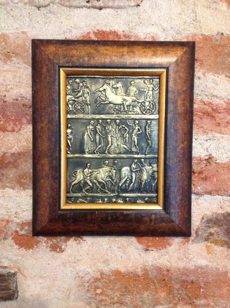 Bronze Bas Reliefr, Universal Gift, Metal Wall Sculpture, Metal Wall Decor, Wall Antique Replika, Miseum Quality Art, Ancient Wall Decor Within Metal Universal Wall Decor (View 2 of 30)
