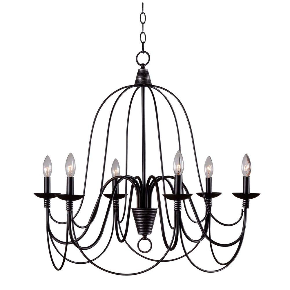 Bronze Candle Style Chandelier With Regard To Armande Candle Style Chandeliers (Image 12 of 30)