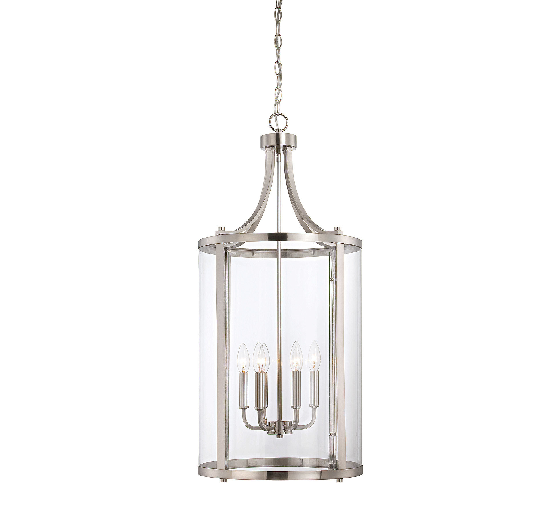 Brookville 6-Light Lantern Cylinder Pendant throughout Armande 3-Light Lantern Geometric Pendants (Image 11 of 30)