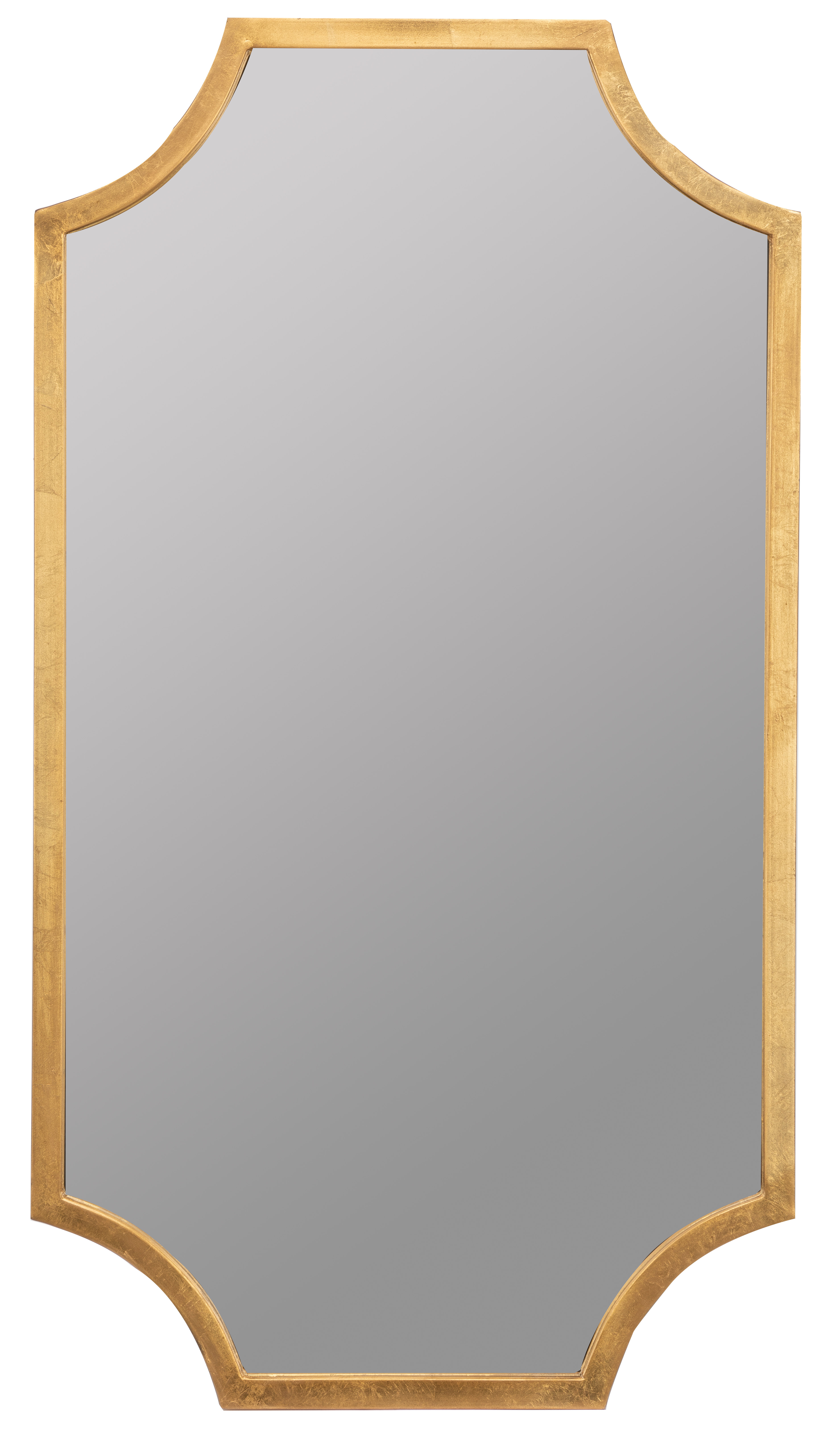 Brought Accent Mirror within Dariel Tall Arched Scalloped Wall Mirrors (Image 6 of 30)