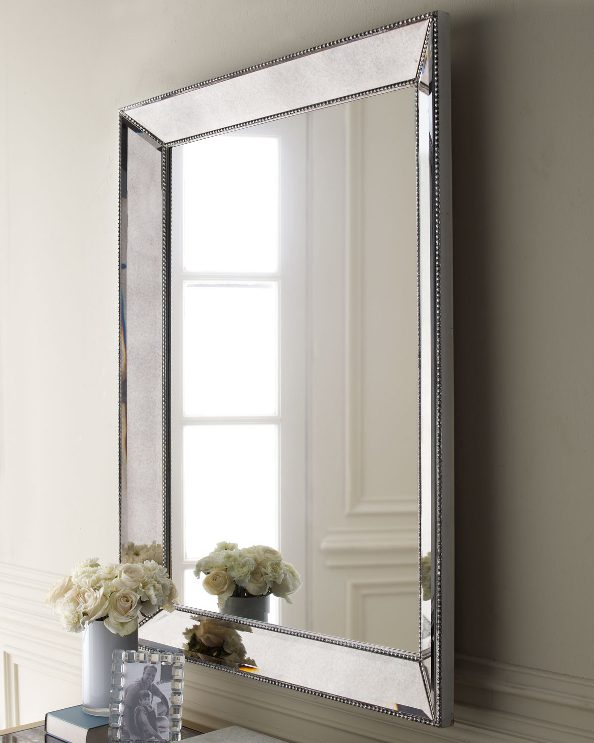 Brown Interior Accent With Reference To Metal Framed Mirrors Intended For Beaded Accent Wall Mirrors (View 8 of 30)