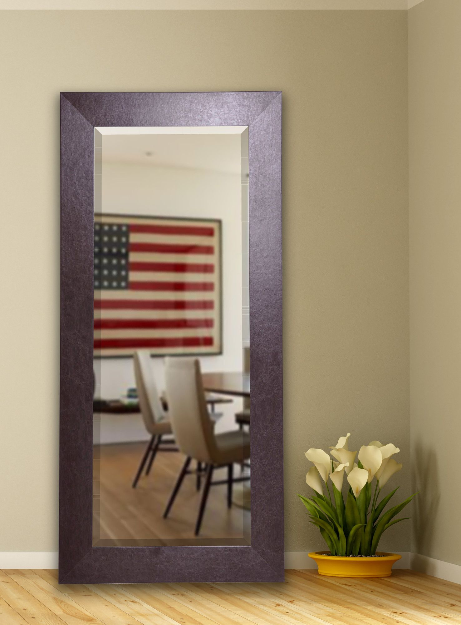 Brown Modern & Contemporary Beveled Full Length Mirror regarding Jameson Modern & Contemporary Full Length Mirrors (Image 3 of 30)