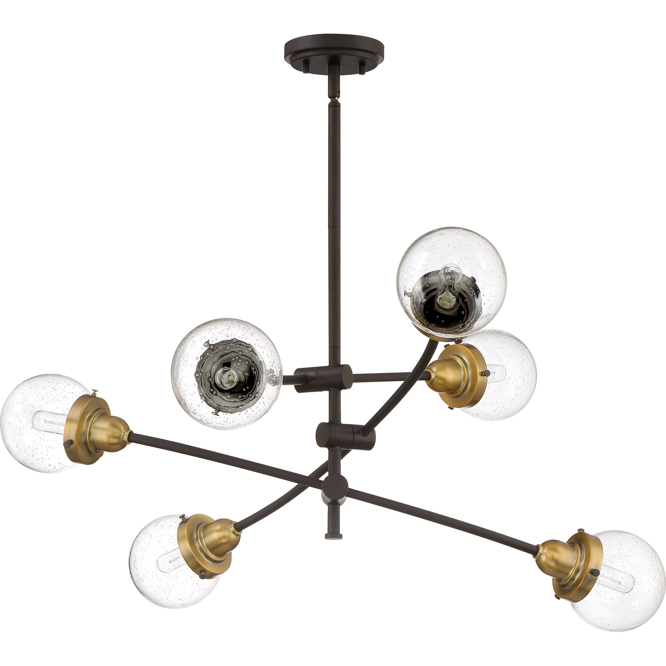 Brucie 6 Light Chandelier Pertaining To Eladia 6 Light Sputnik Chandeliers (View 10 of 30)