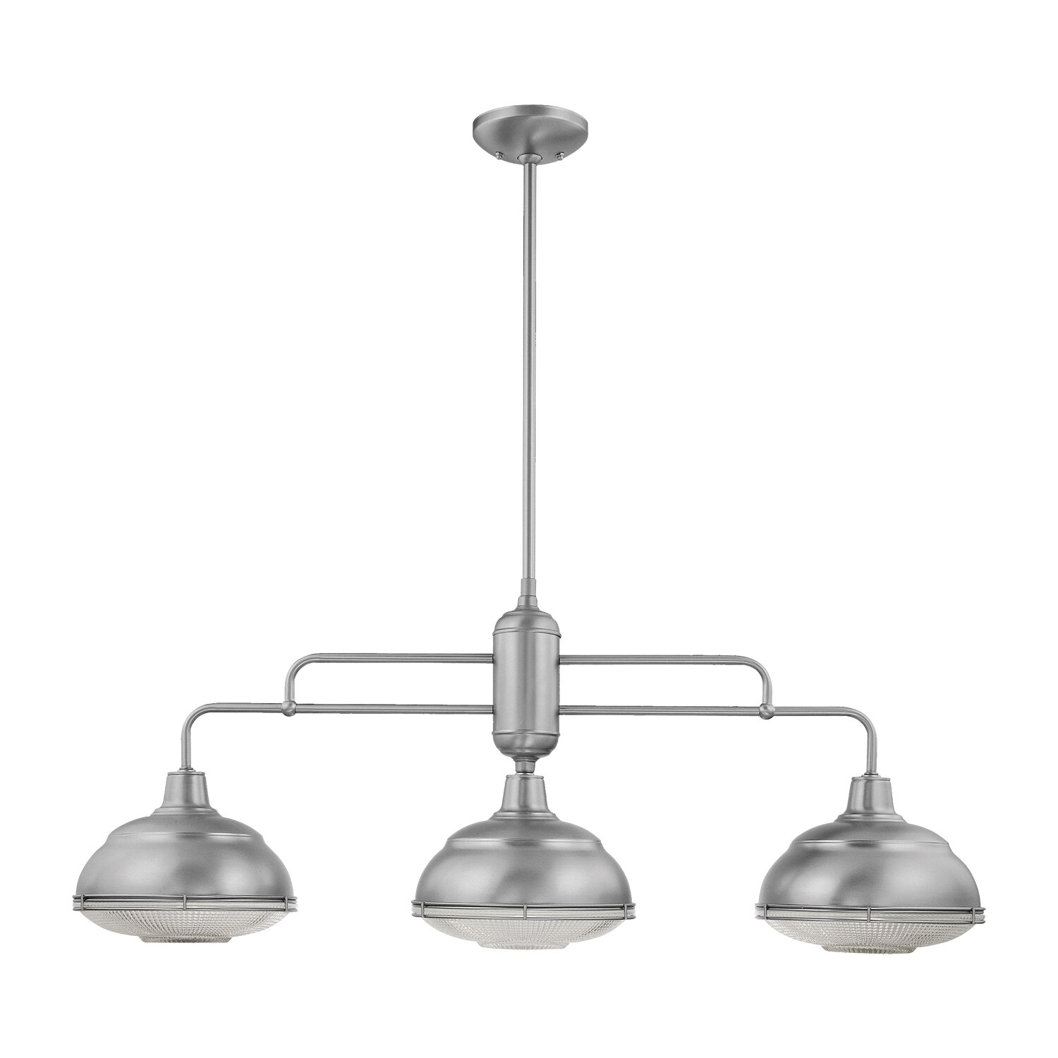 Bruges 3-Light Kitchen Island Dome Pendant in Martinique 3-Light Kitchen Island Dome Pendants (Image 5 of 30)