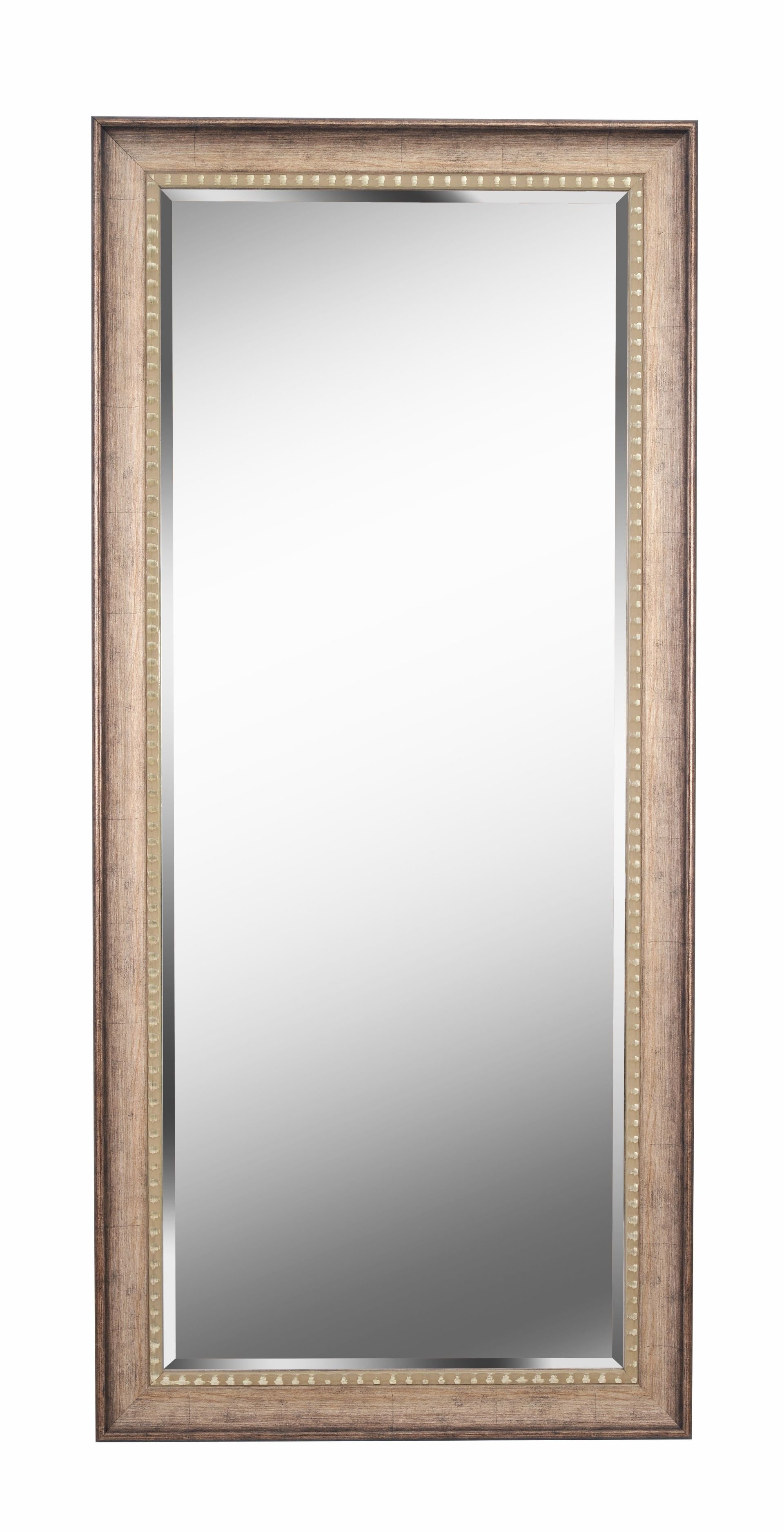 Brunswick Floor Rustic Beveled Distressed Full Length Mirror intended for Boyers Wall Mirrors (Image 9 of 30)