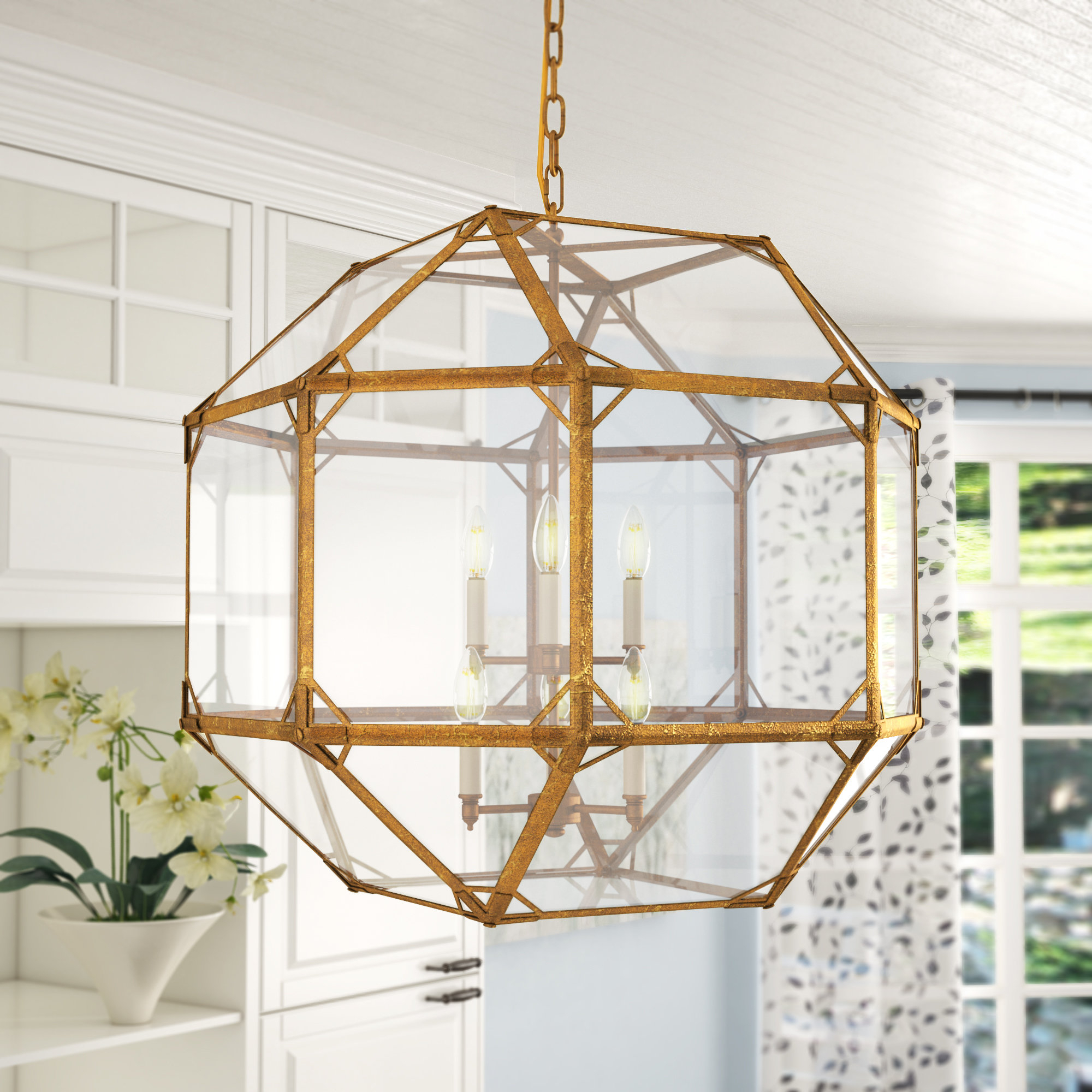 Brushed Gold Chandelier | Wayfair With Annuziata 3 Light Unique/statement Chandeliers (View 14 of 30)