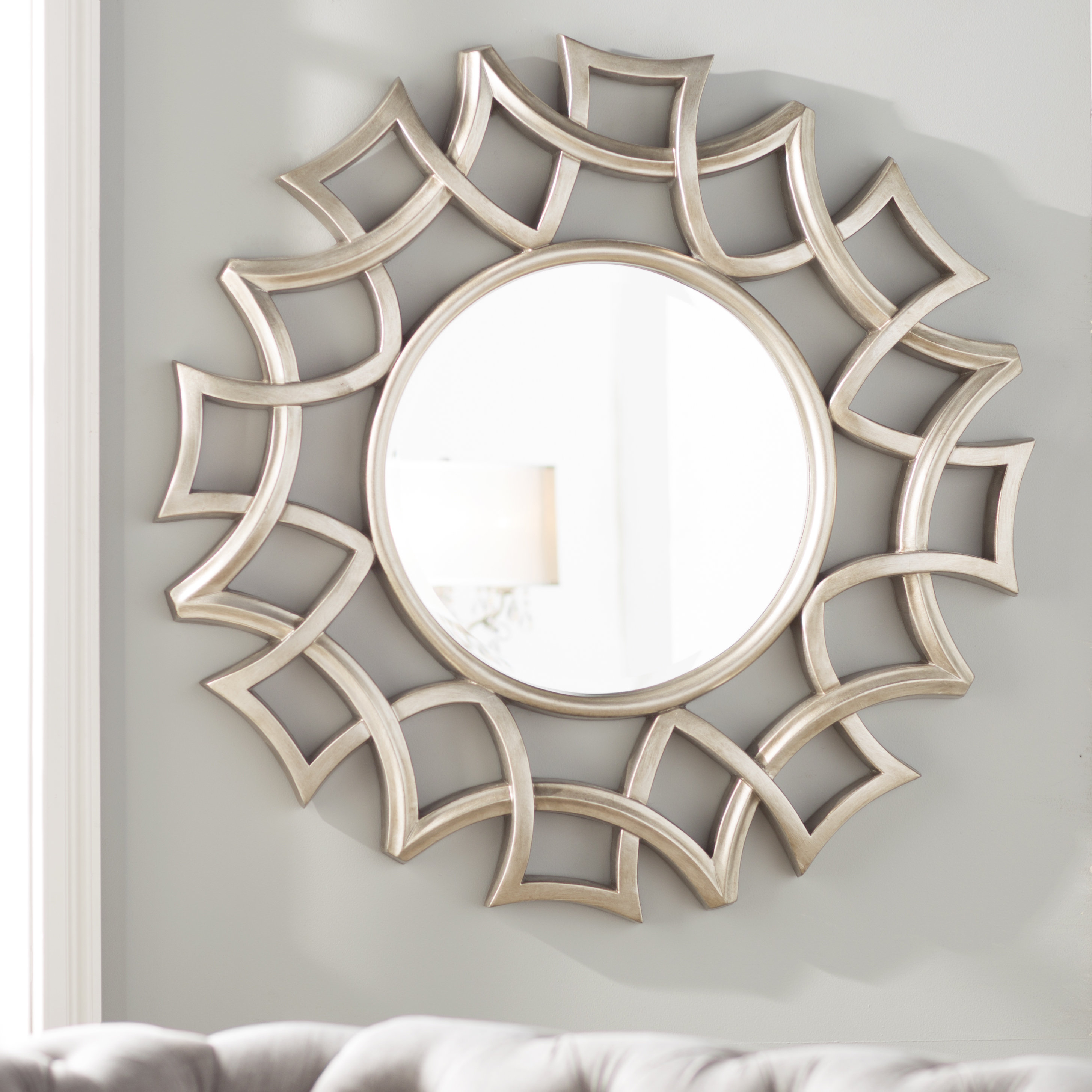 Brylee Traditional Sunburst Mirror Within Starburst Wall Decor By Willa Arlo Interiors (View 4 of 30)