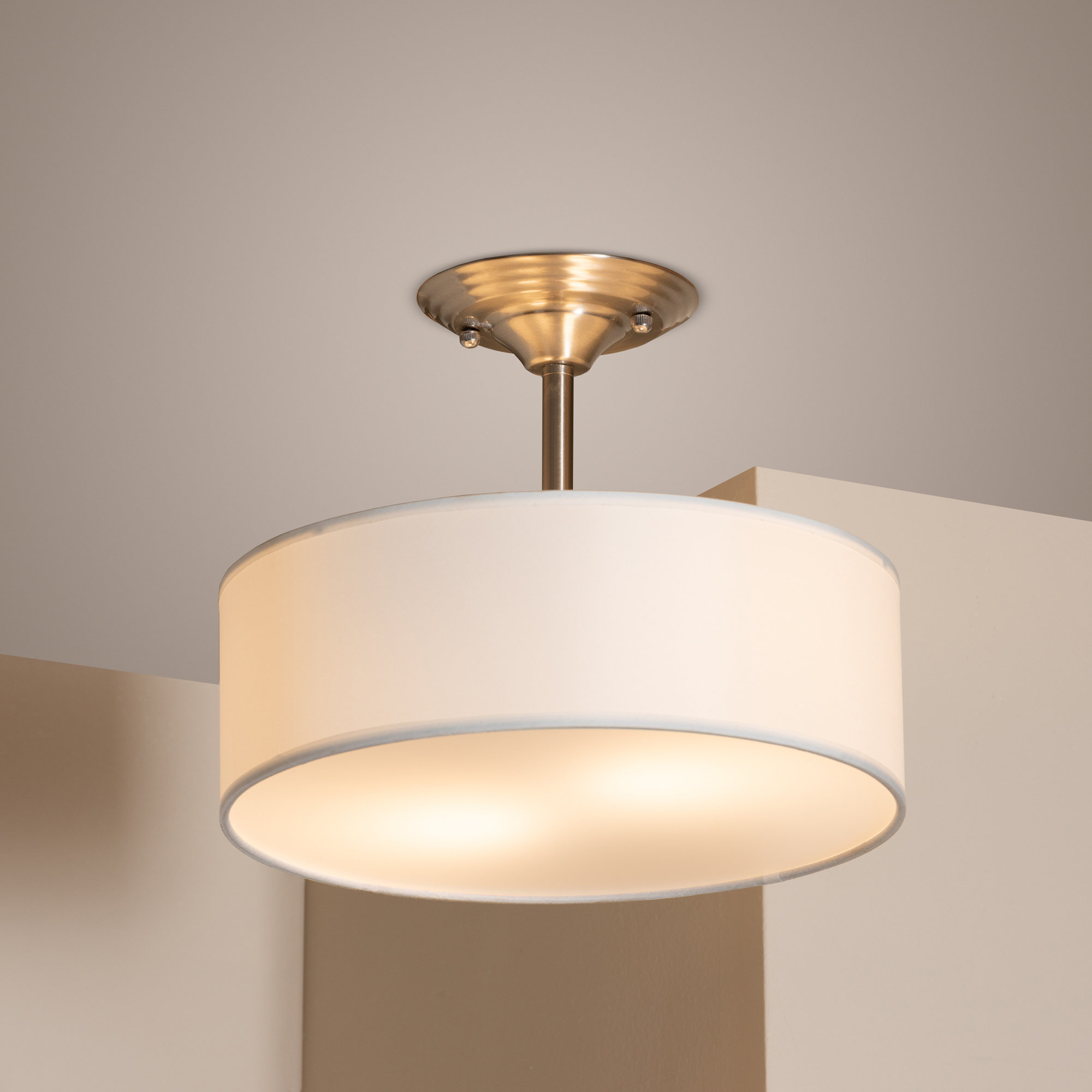 Buchholz 2 Light Drum Pendant Pertaining To Friedland 3 Light Drum Tiered Pendants (View 24 of 30)