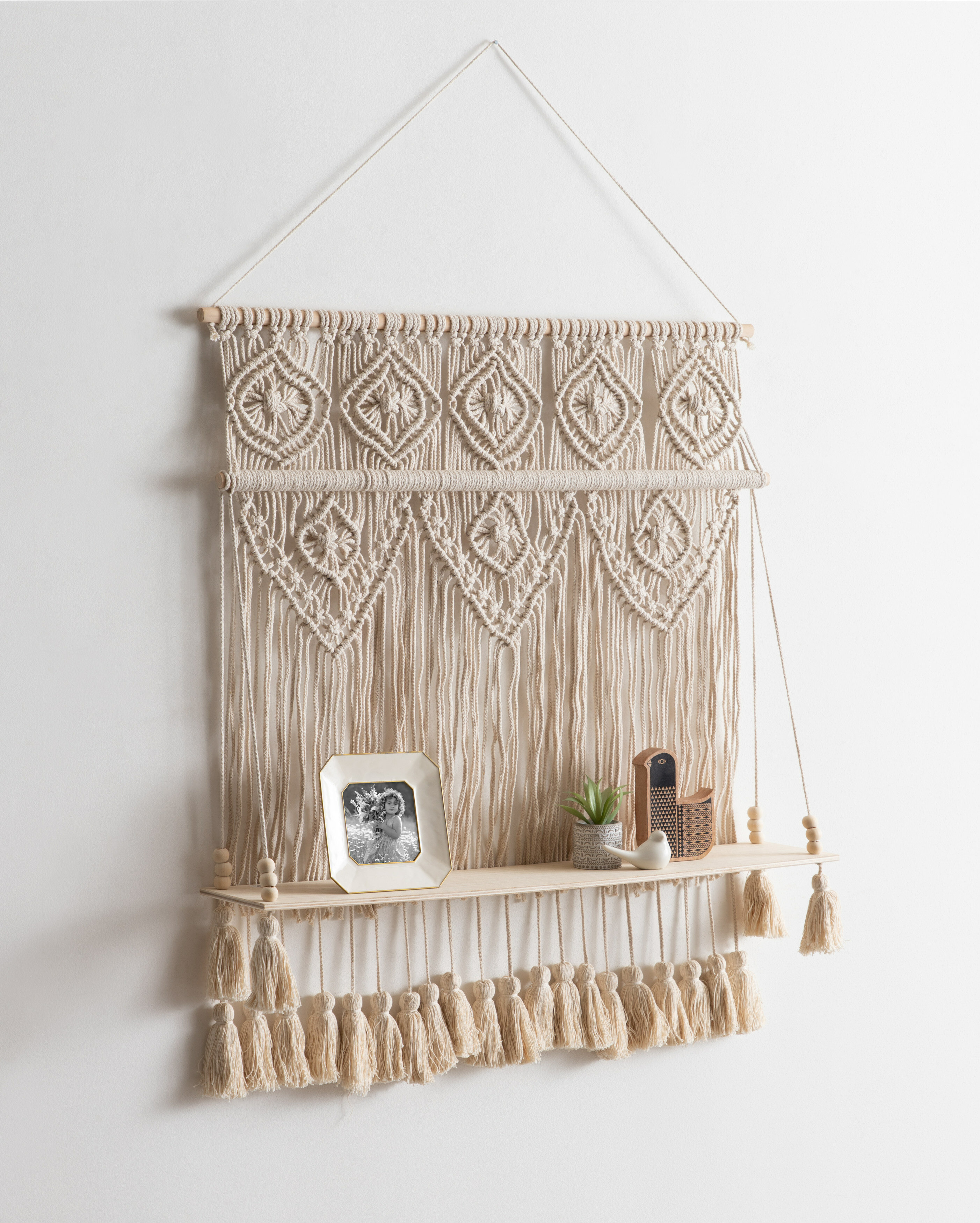Bungalow Rose Hanging Shelf Wall Tapestry | Wayfair In Highlands Ranch The Templeton Wall Decor (View 12 of 30)