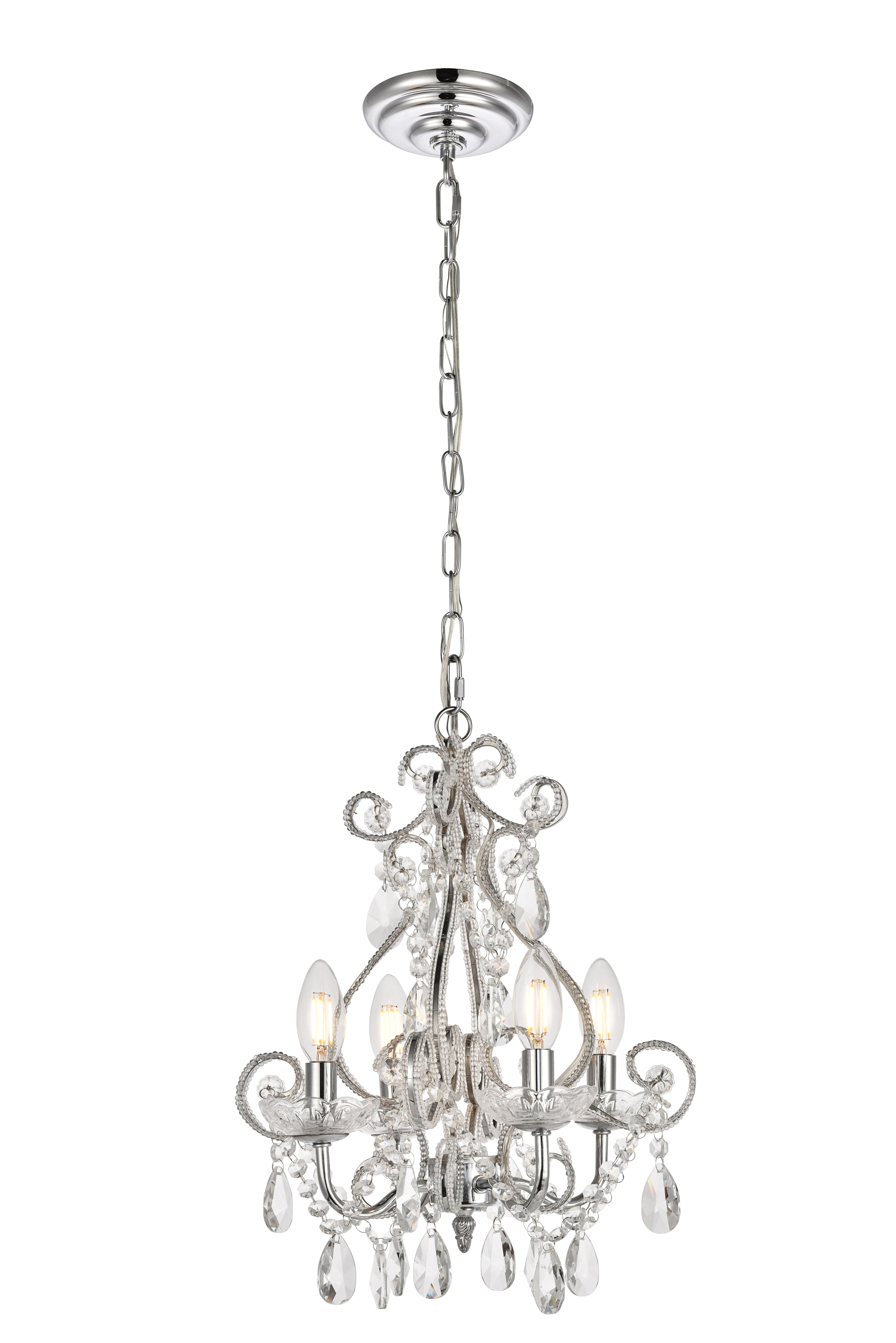 Burcott 4 Light Candle Style Chandelier Throughout Aldora 4 Light Candle Style Chandeliers (View 3 of 30)