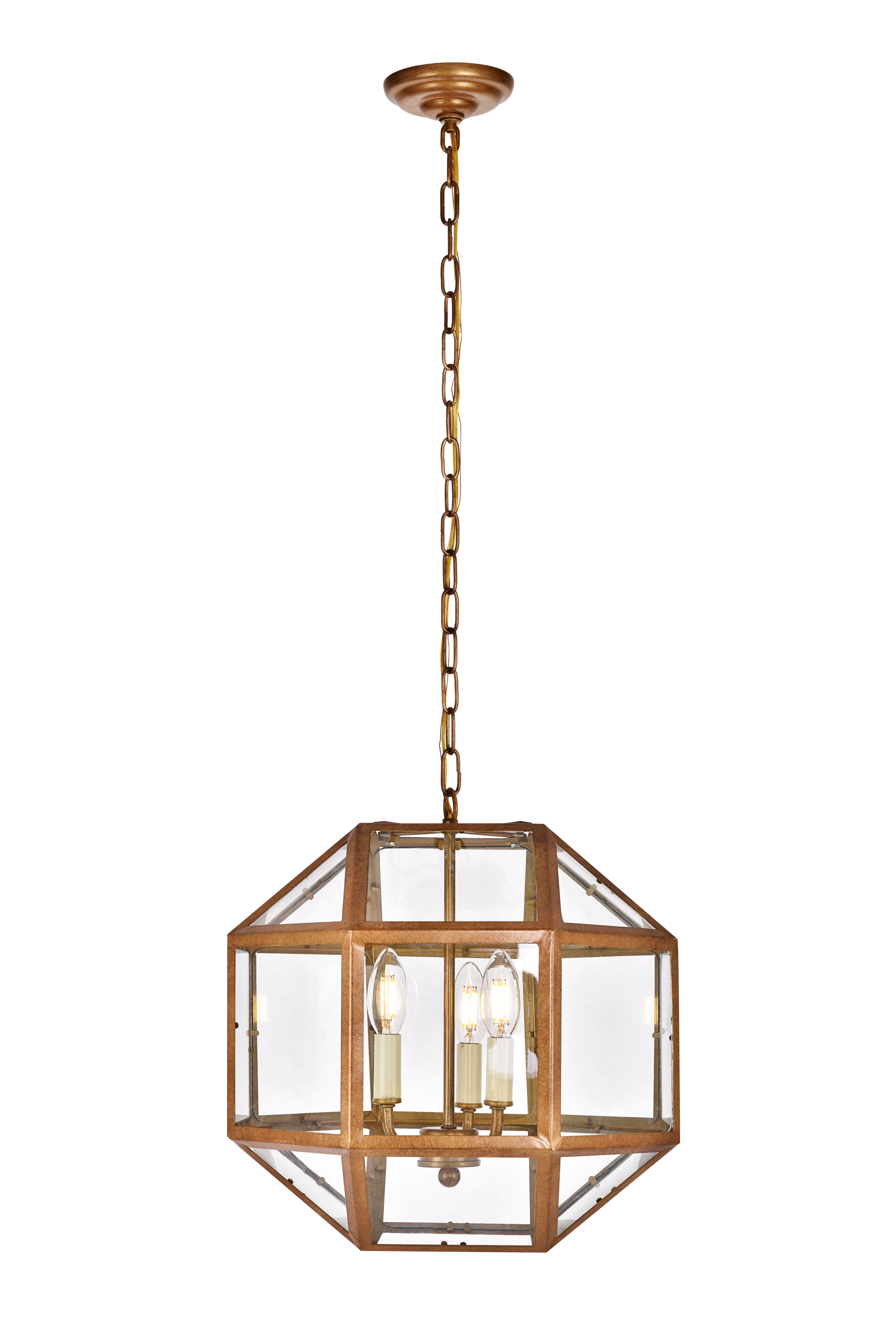 Burkeville 3-Light Geometric Chandelier pertaining to Shipststour 3-Light Globe Chandeliers (Image 7 of 30)