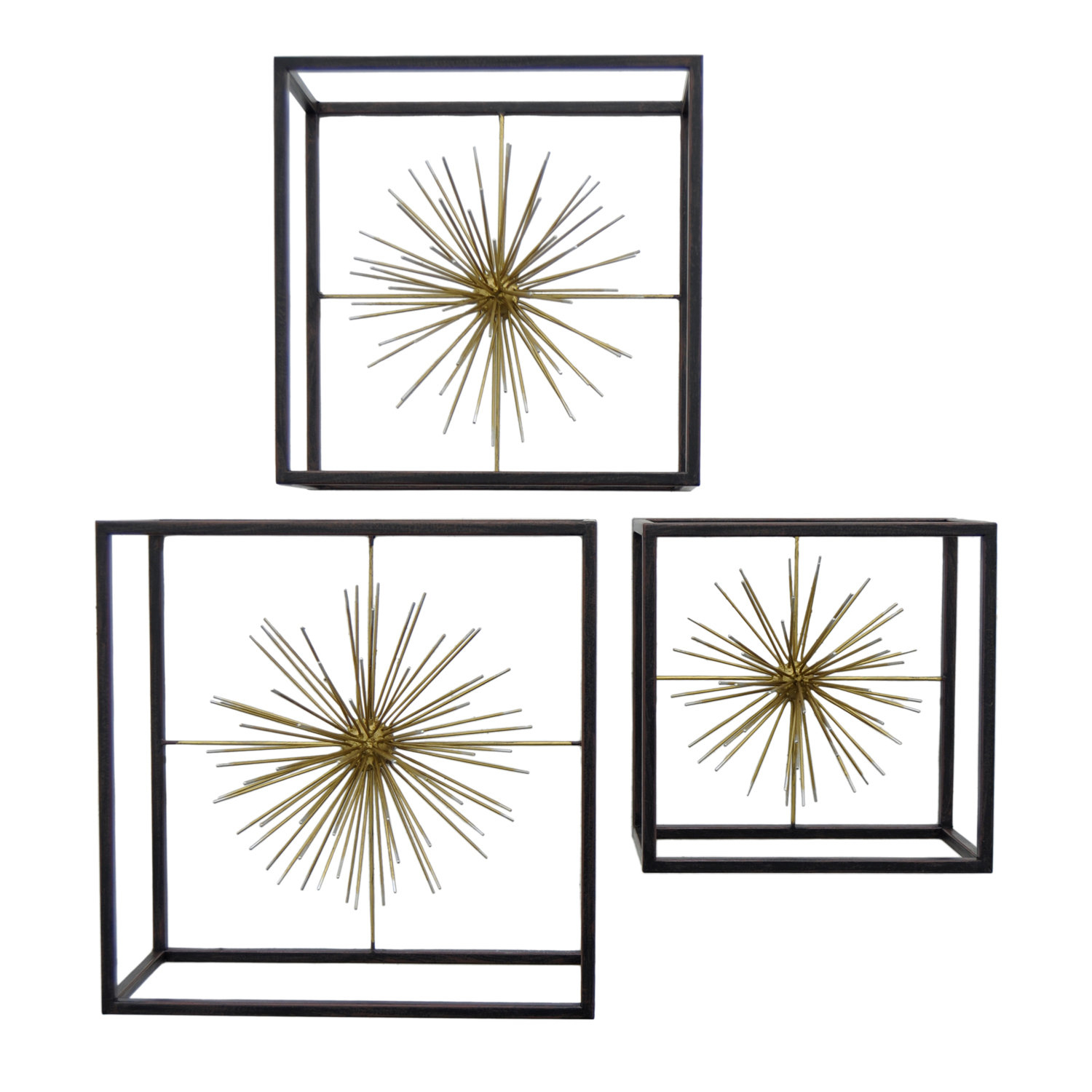 Burst Wall Decor Set | Wayfair With 3 Piece Acrylic Burst Wall Decor Sets (set Of 3) (View 10 of 30)