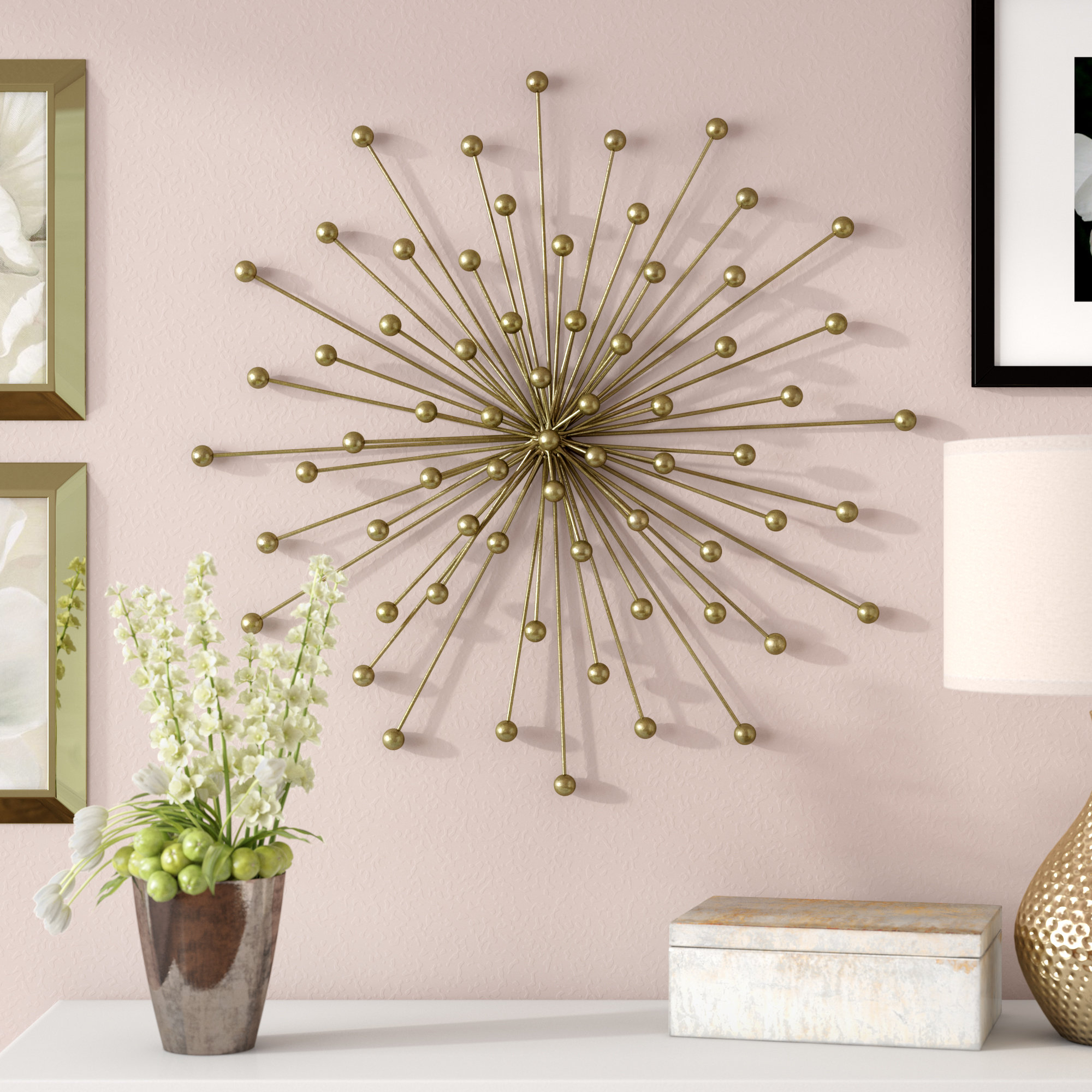 Burst Wall Décor with Starburst Wall Decor by Willa Arlo Interiors (Image 5 of 30)