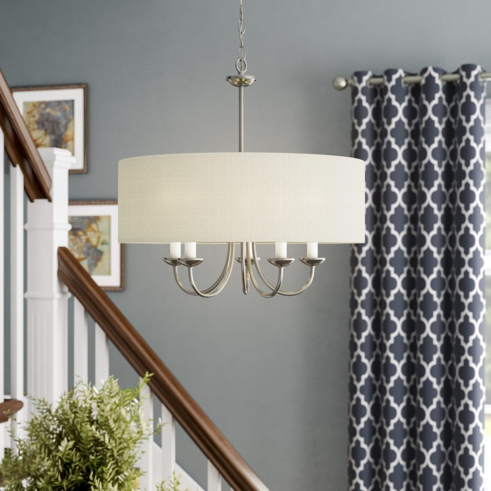 Burton Light Drum Chandelier Home And Interior Ideas Dining with Wightman Drum Chandeliers (Image 9 of 30)