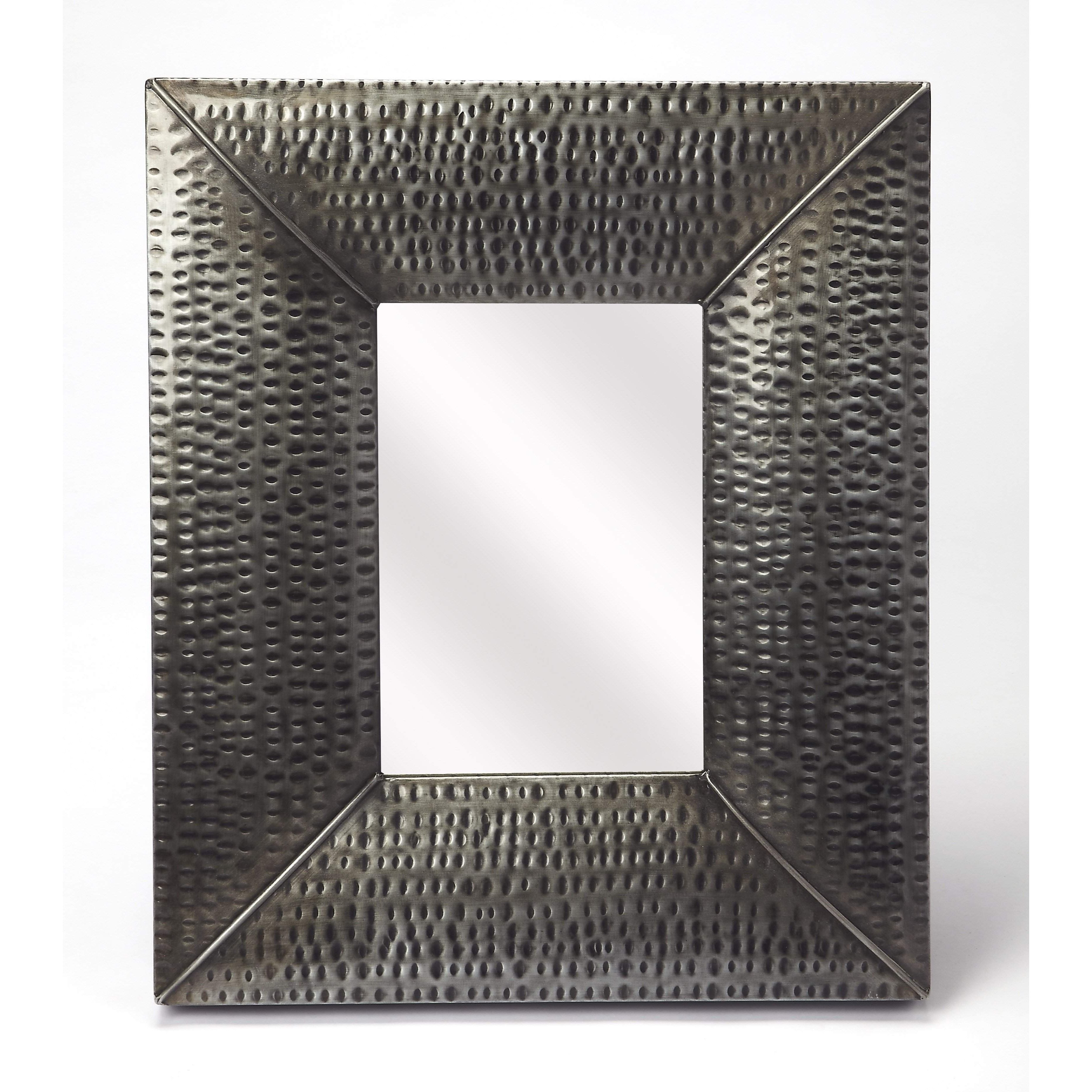 Butler Lehigh Hammered Iron Wall Mirror 4310329   Products Within Austin Industrial Accent Mirrors (Image 11 of 30)