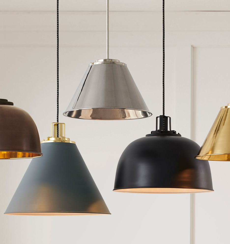 """Butte 24"""" Cone Aged Brass Pendant In 2019 