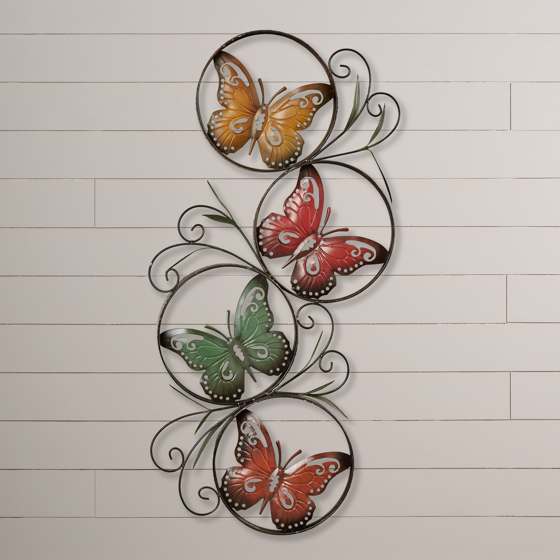 Butterfly 3d Metal Wall Decor | Wayfair Within Flower And Butterfly Urban Design Metal Wall Decor (View 16 of 30)