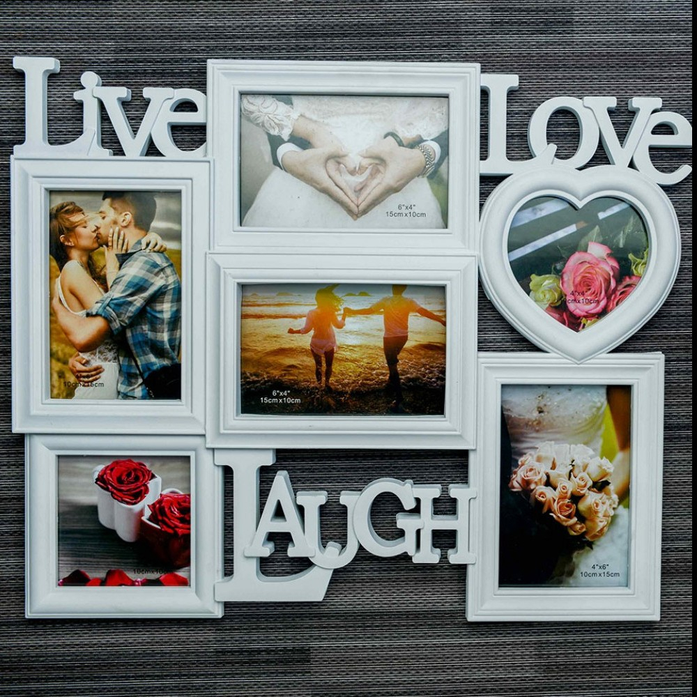 Buy 3 L – Live, Love & Laugh Photo Frame For Family Online Throughout Live Love Laugh 3 Piece Black Wall Decor Sets (View 24 of 30)