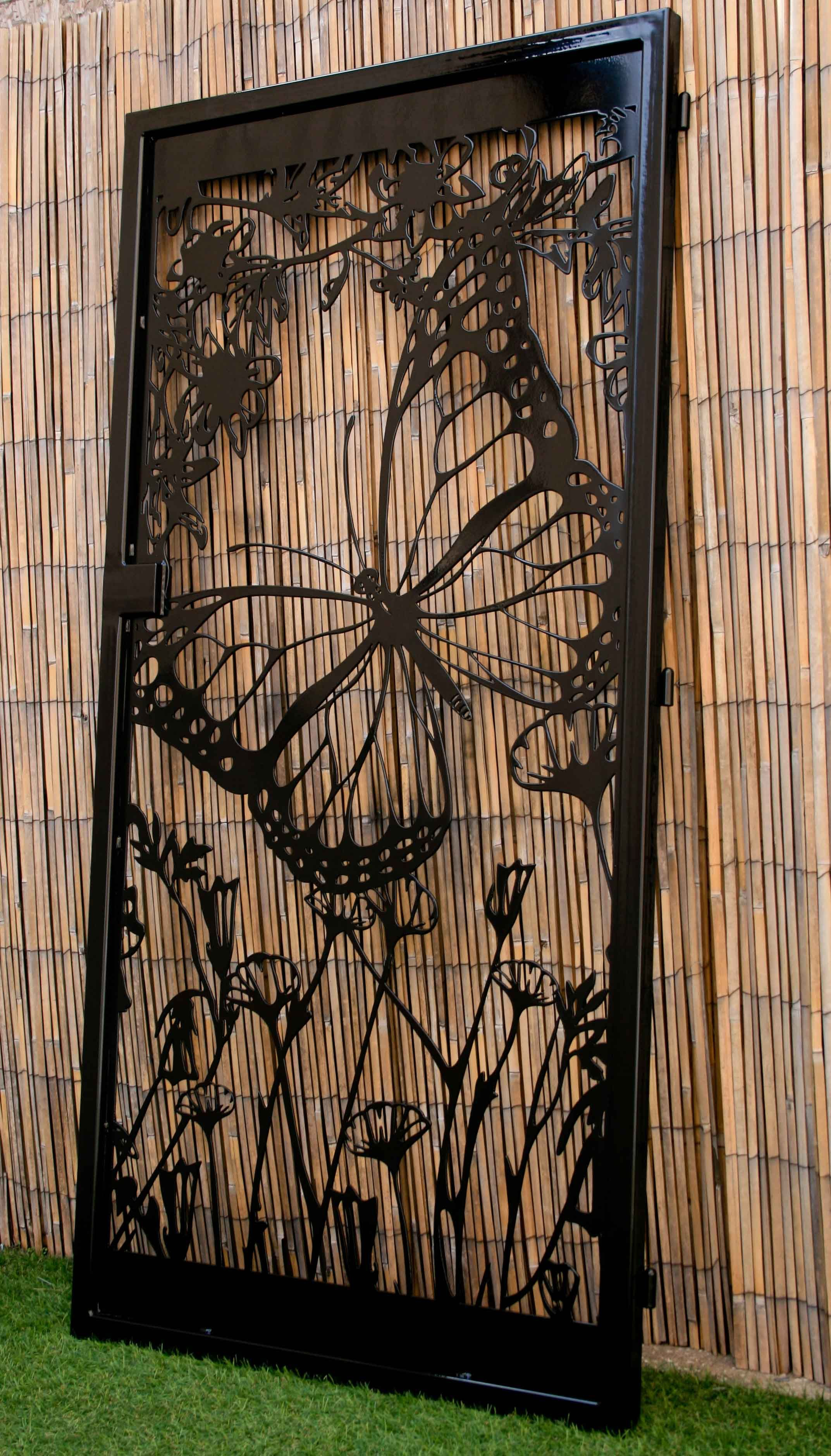 Buy A Hand Crafted Floral Artistic Gate – Butterfly With Regard To Flower And Butterfly Urban Design Metal Wall Decor (View 23 of 30)